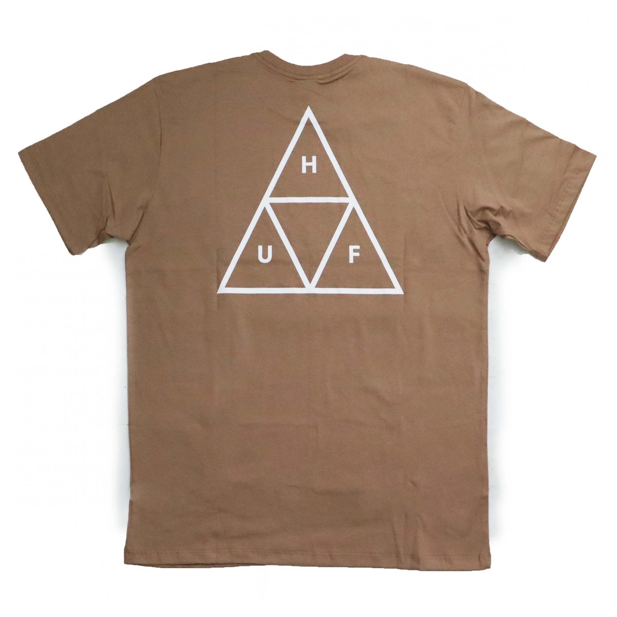 Camiseta HUF Essentials TT  - Areia
