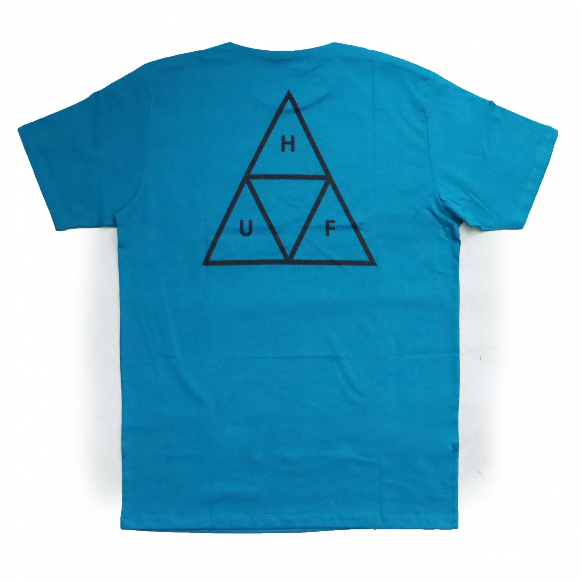 Camiseta HUF Essentials TT  - Azul Turqueza