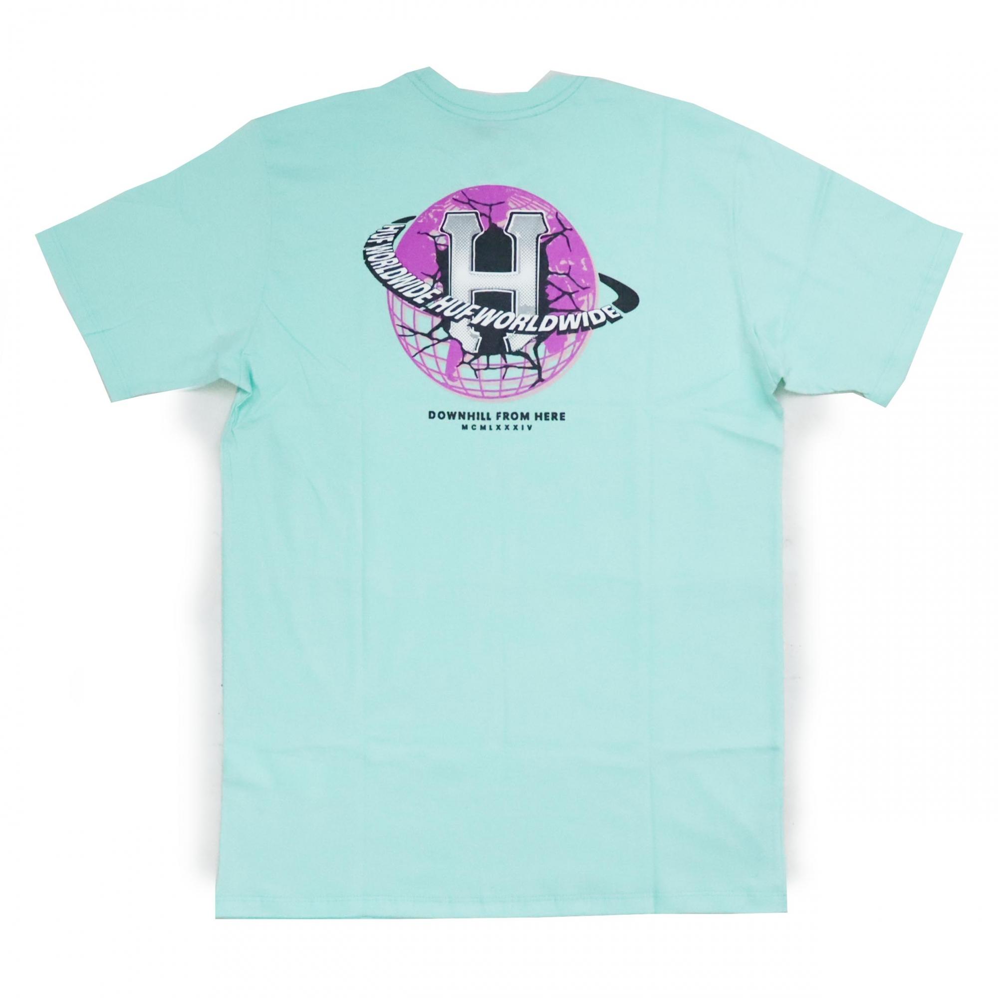 Camiseta HUF Gigs Melted - Verde Água
