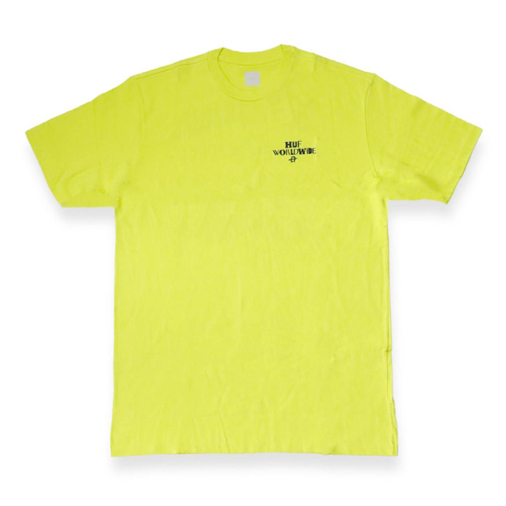 Camiseta HUF Hoods - Amarelo Neon