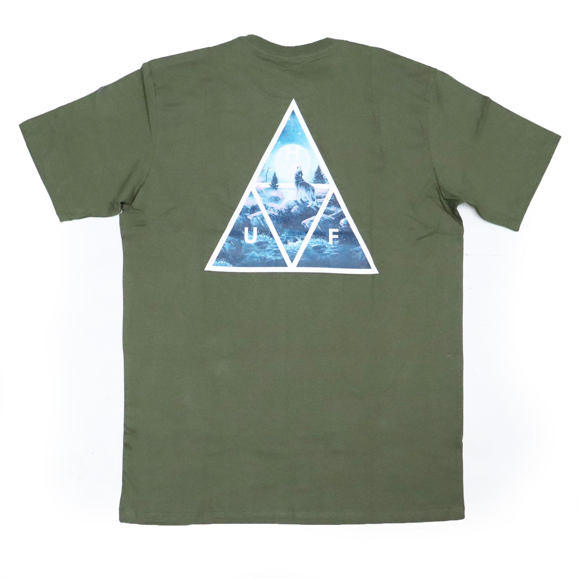 Camiseta HUF Lupus Noctem - Verde Militar