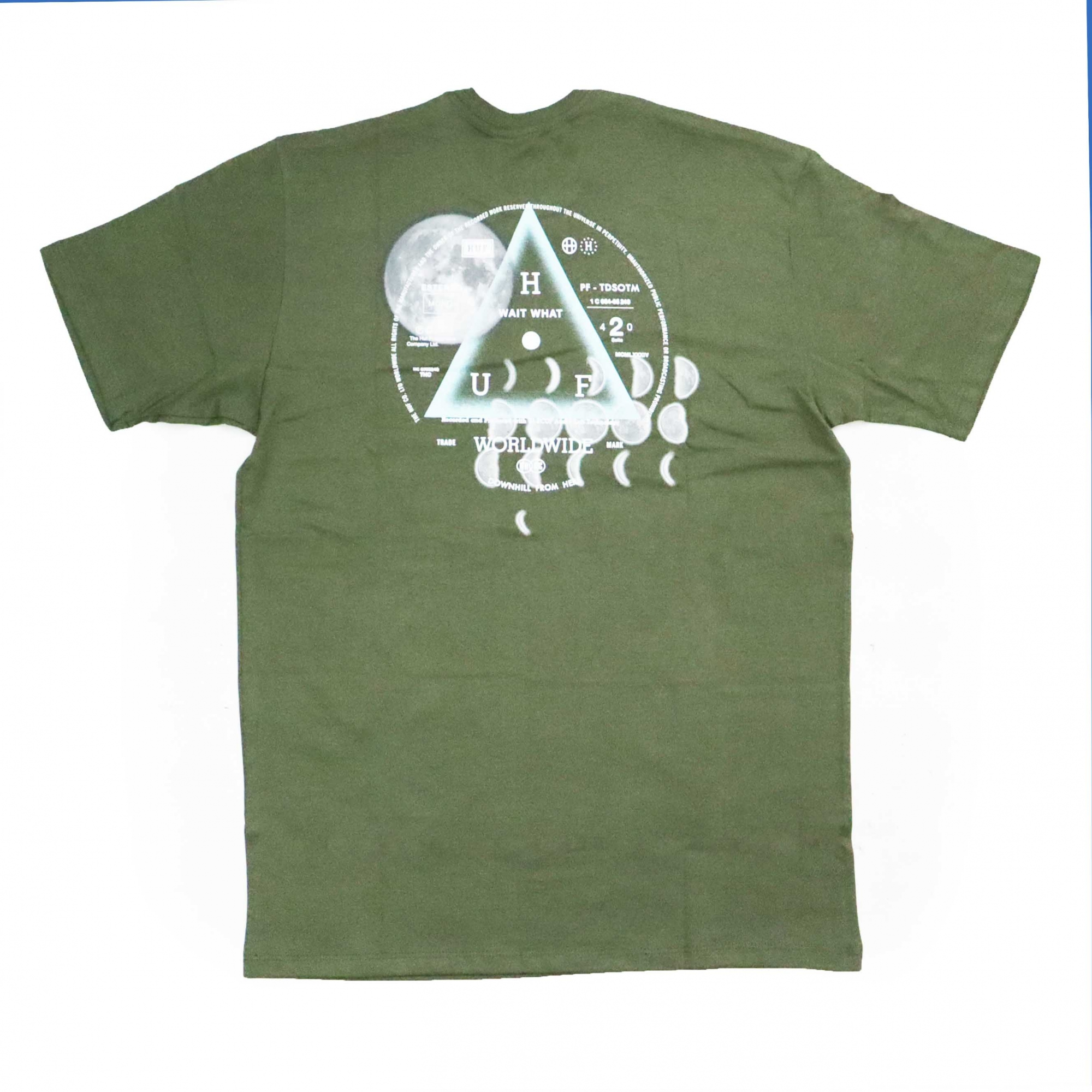 Camiseta HUF Moons - Verde Militar