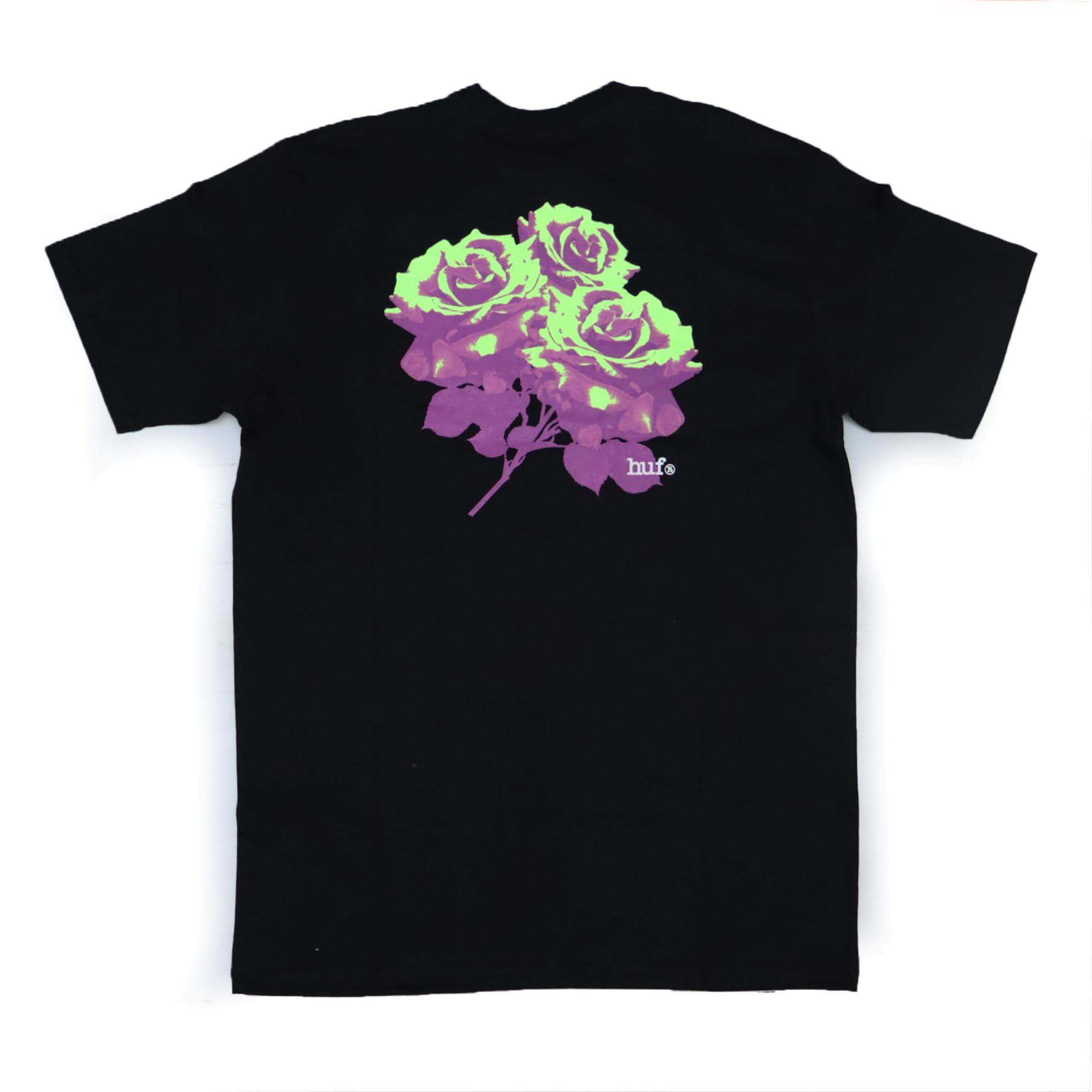 Camiseta HUF Neu Rose - Preto