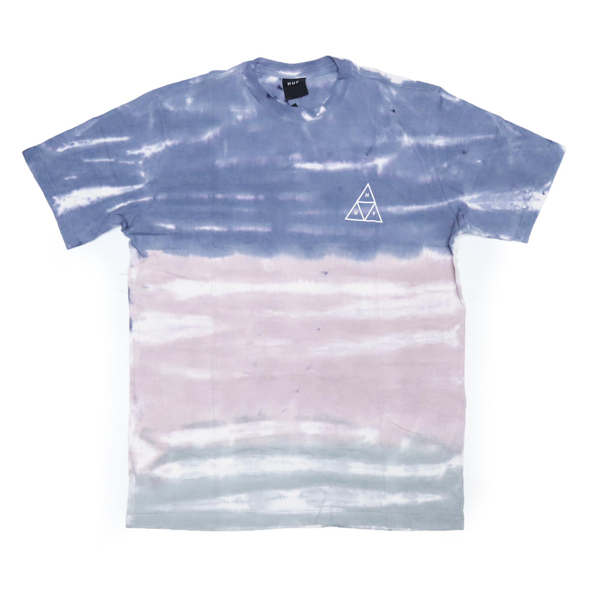 Camiseta HUF Sky Wash - Azul Marinho/Rosa/Verde
