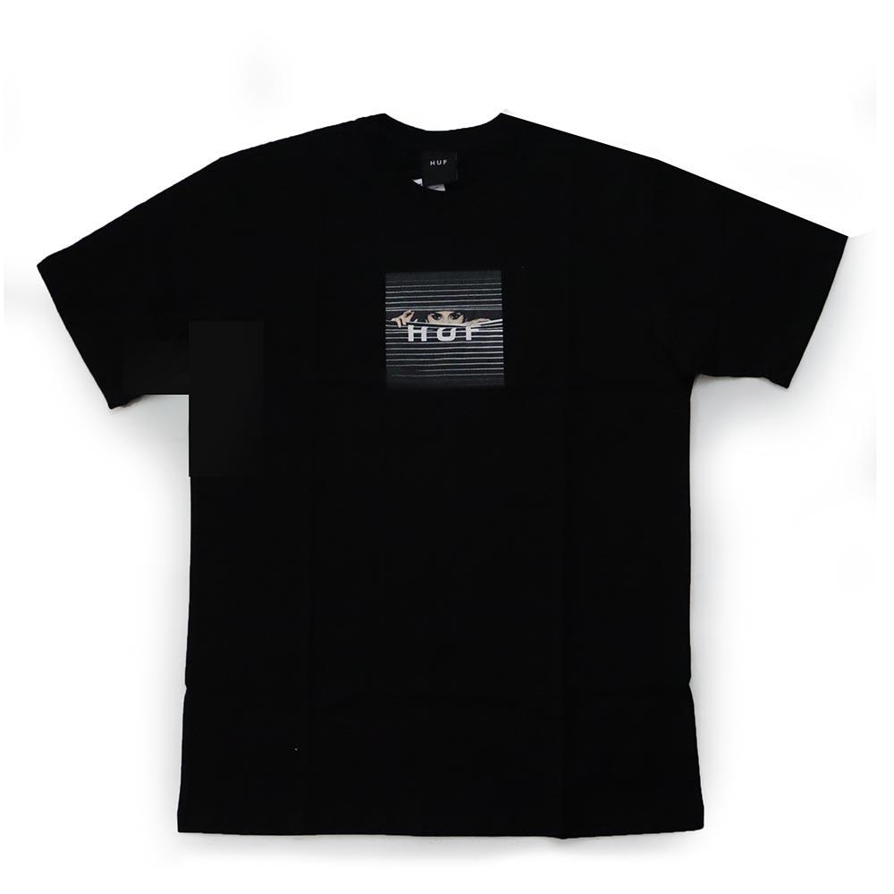 Camiseta HUF Voyeur Box Logo - Preto