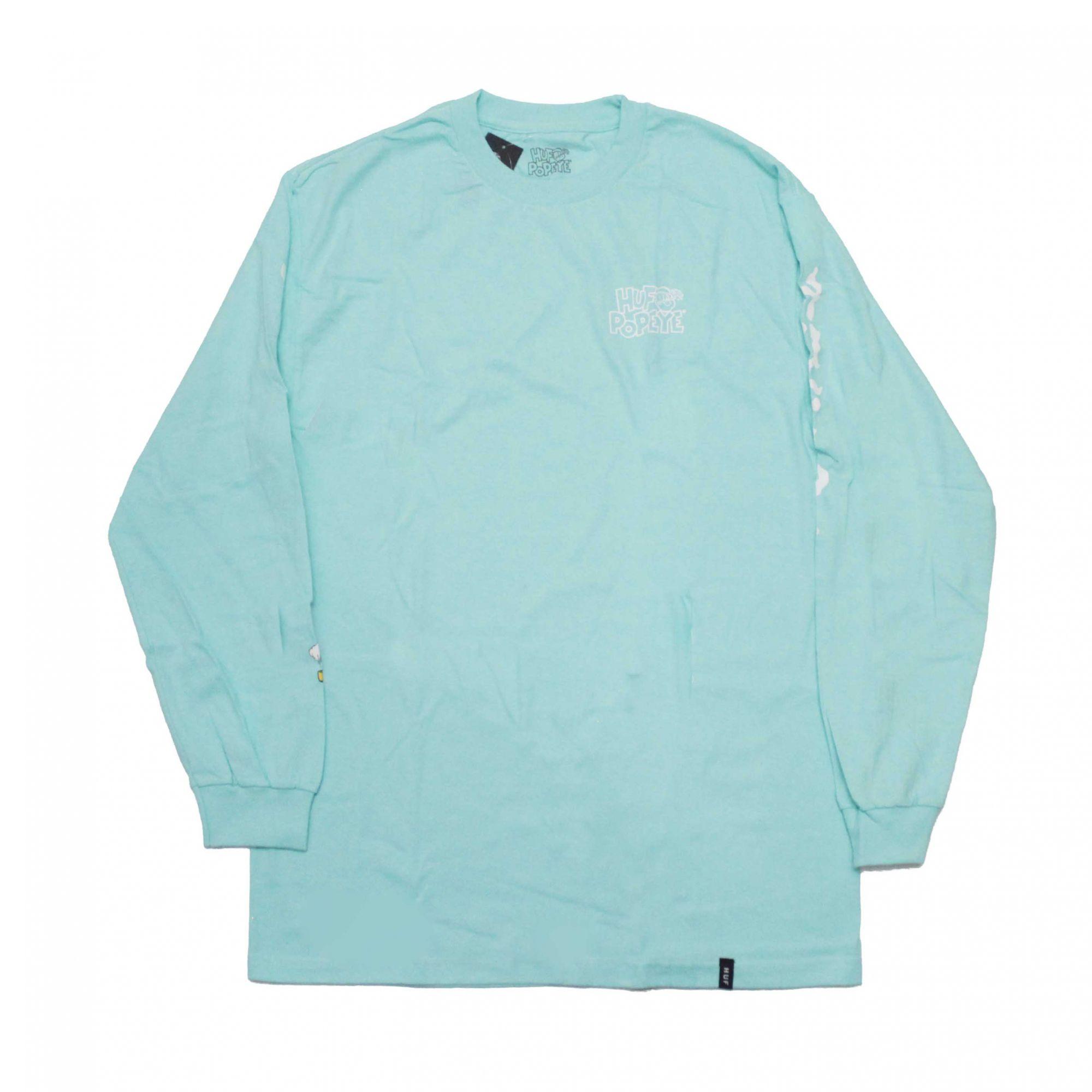Camiseta HUF x Popeye Smokestack Verde Agua (Importado)