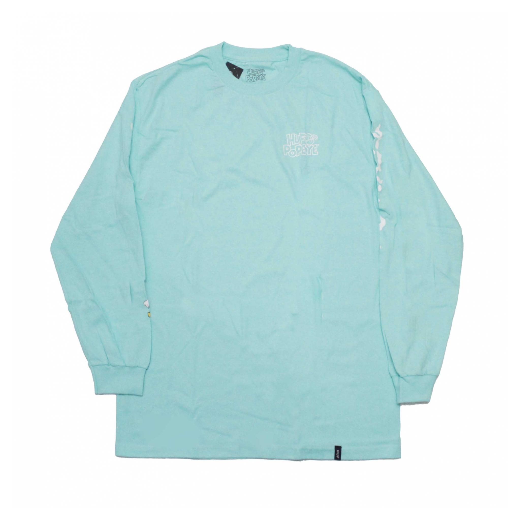 Camiseta HUF x Popeye Smokestack - Verde Agua (Importado)