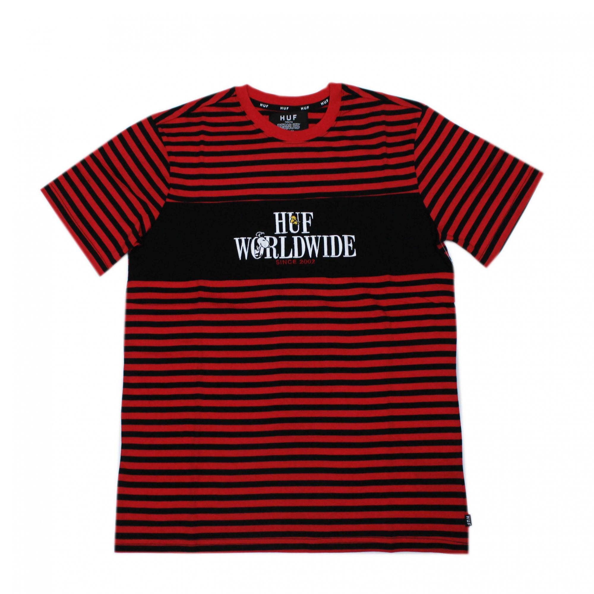 Camiseta HUF x Snoopy Party Animal Vermelho/Preto (Importado)