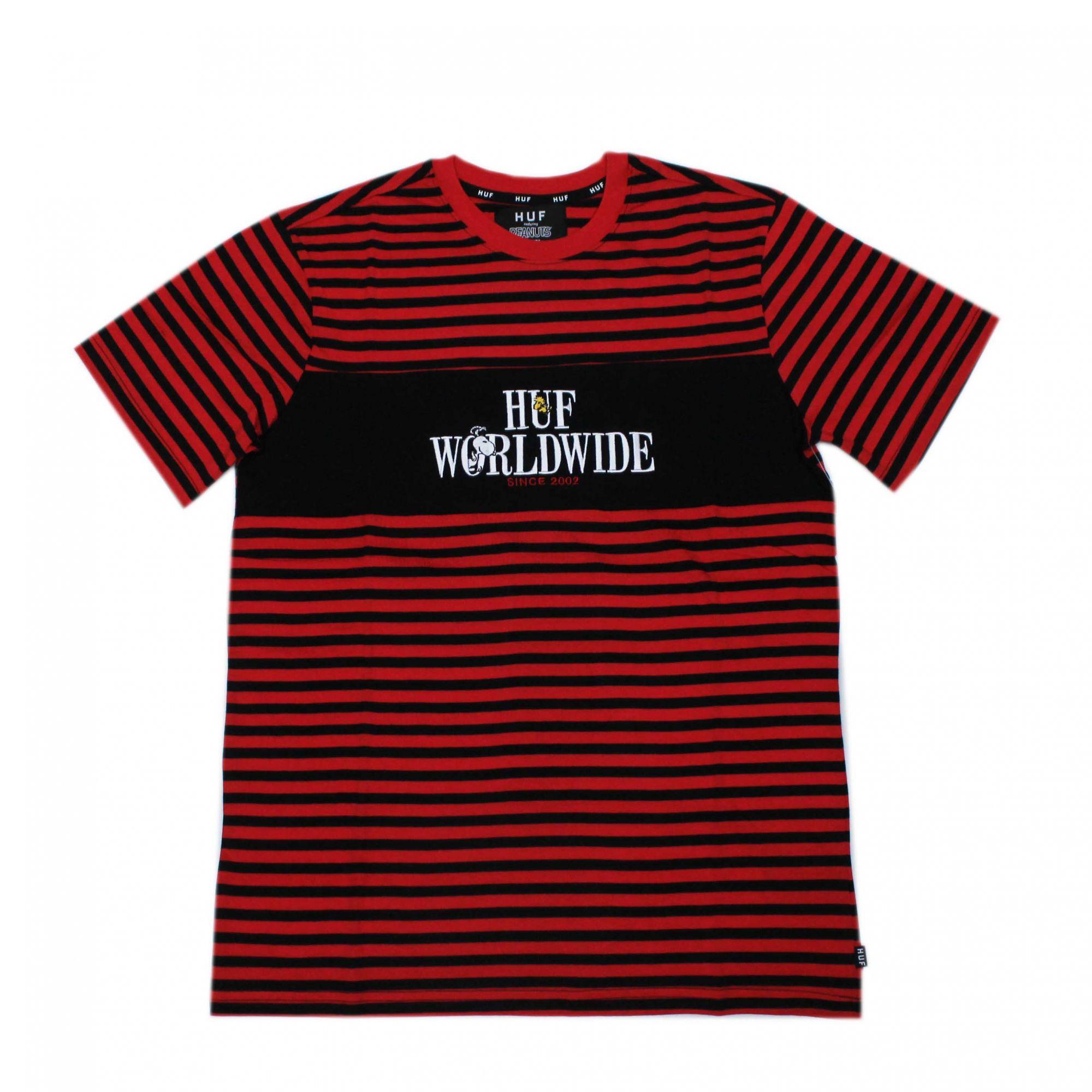 Camiseta HUF x Snoopy Party Animal - Vermelho/Preto (Importado)