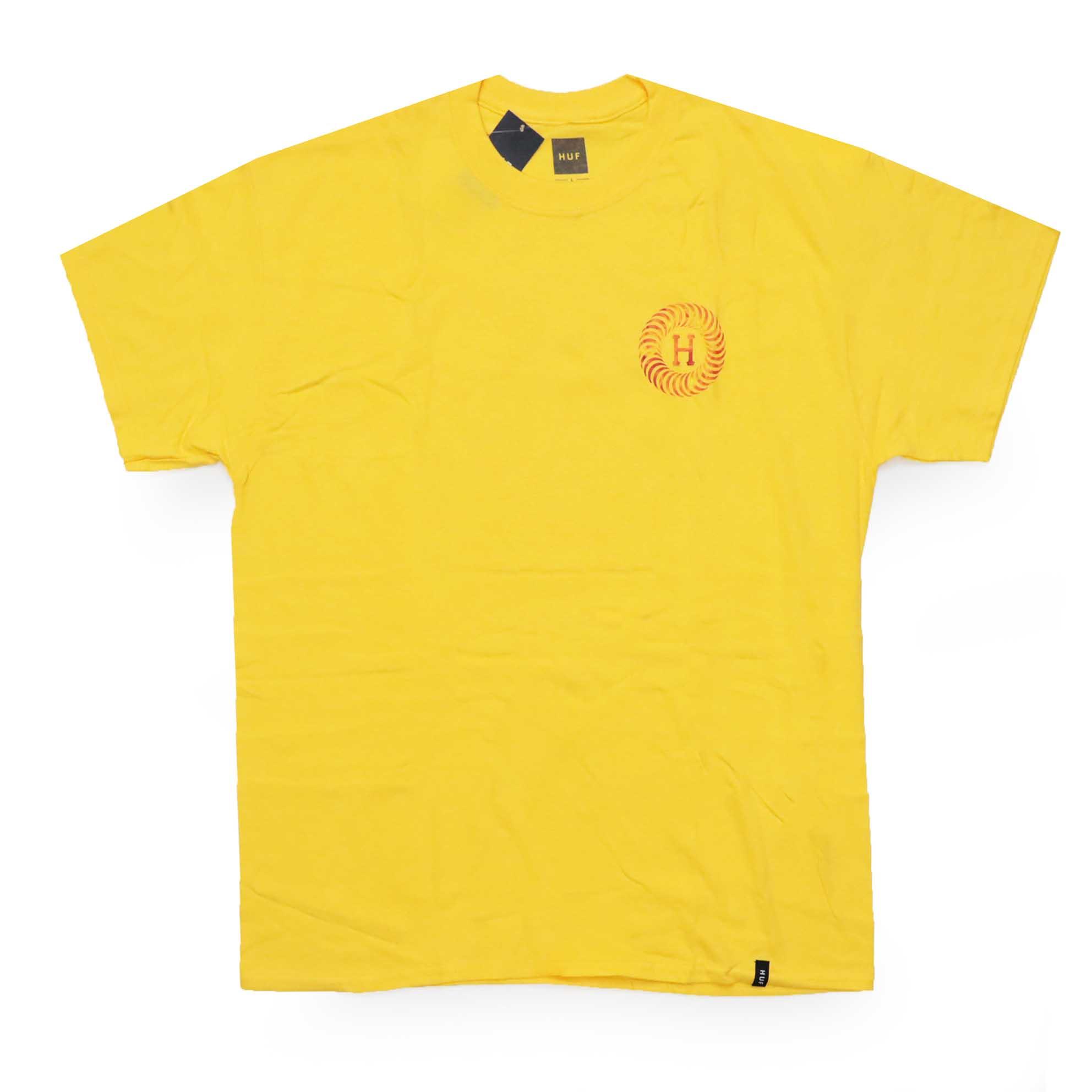 Camiseta HUF x Spitfire Fire - Amarelo (Importado)