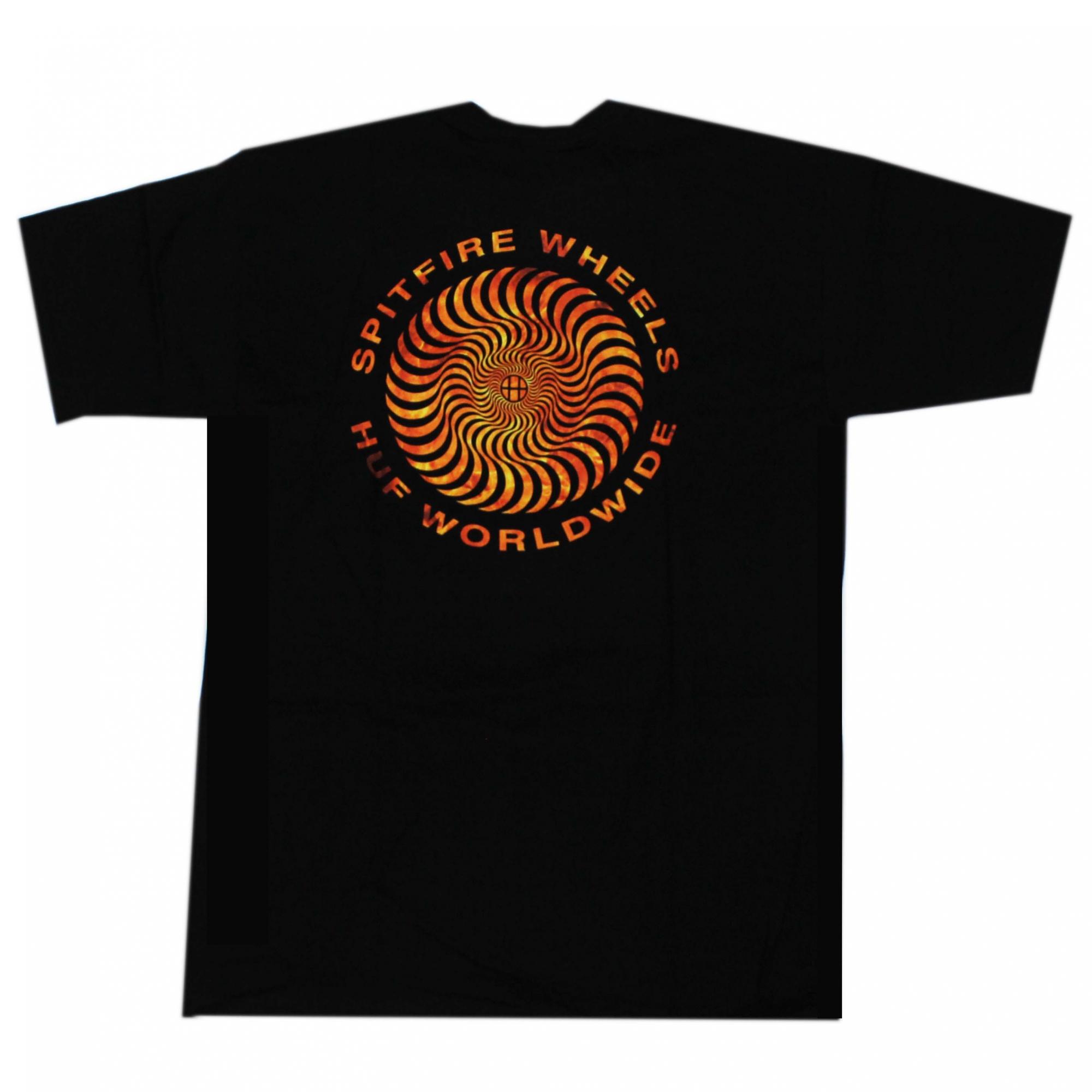 Camiseta HUF x Spitfire Fire - Preto (Importado)