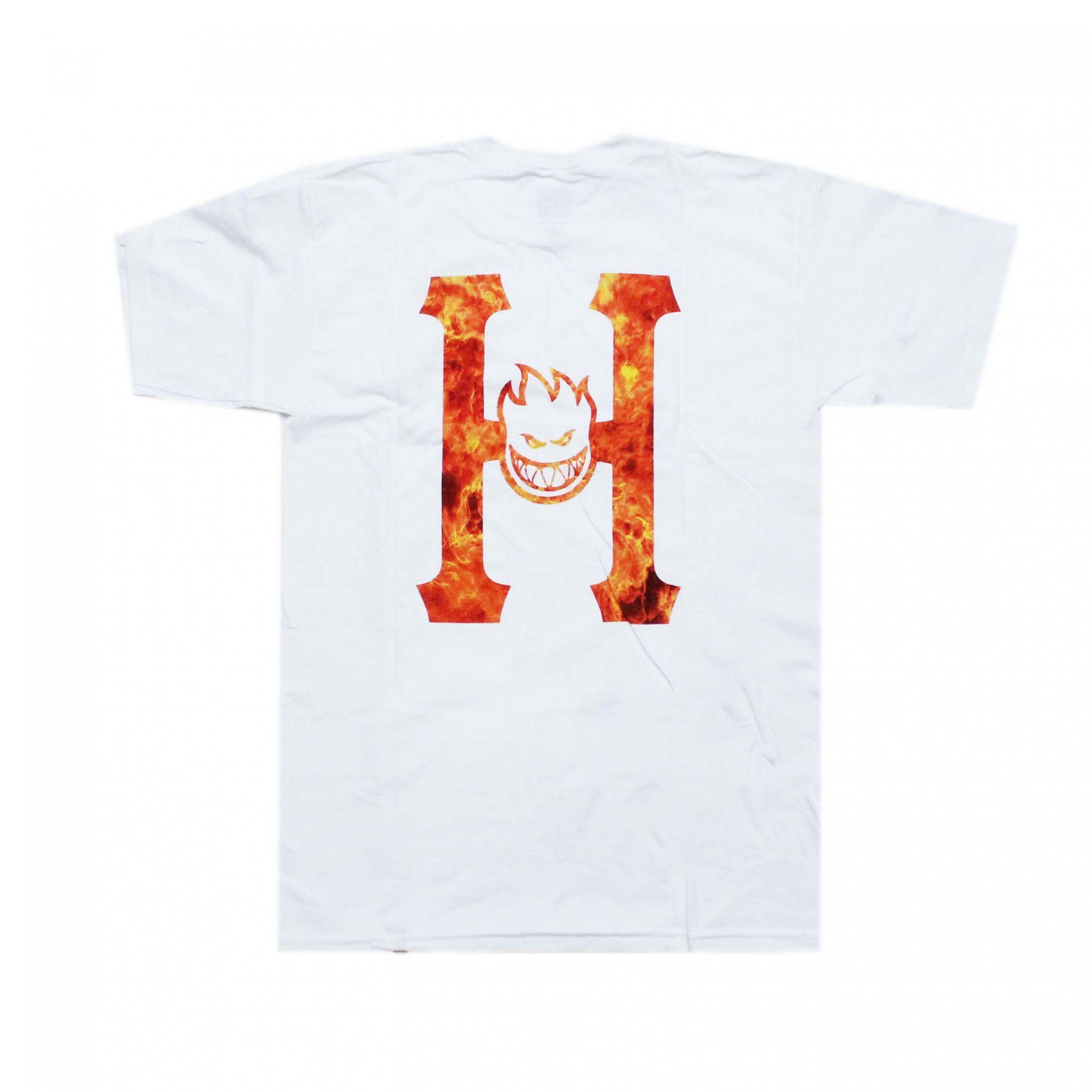 Camiseta HUF x Spitfire Flaming Branco (Importado)