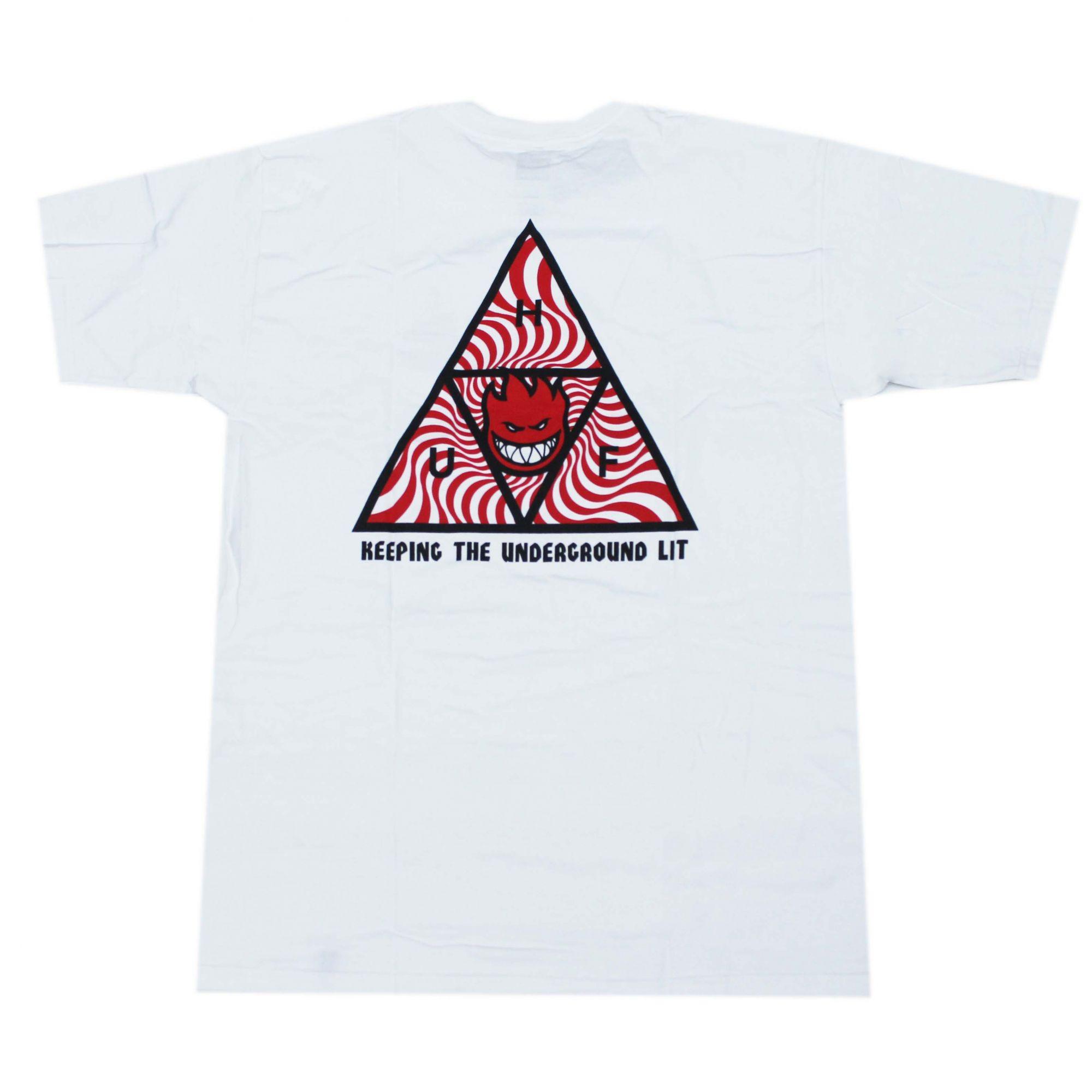 Camiseta HUF x Spitfire TT - Branco (Importado)