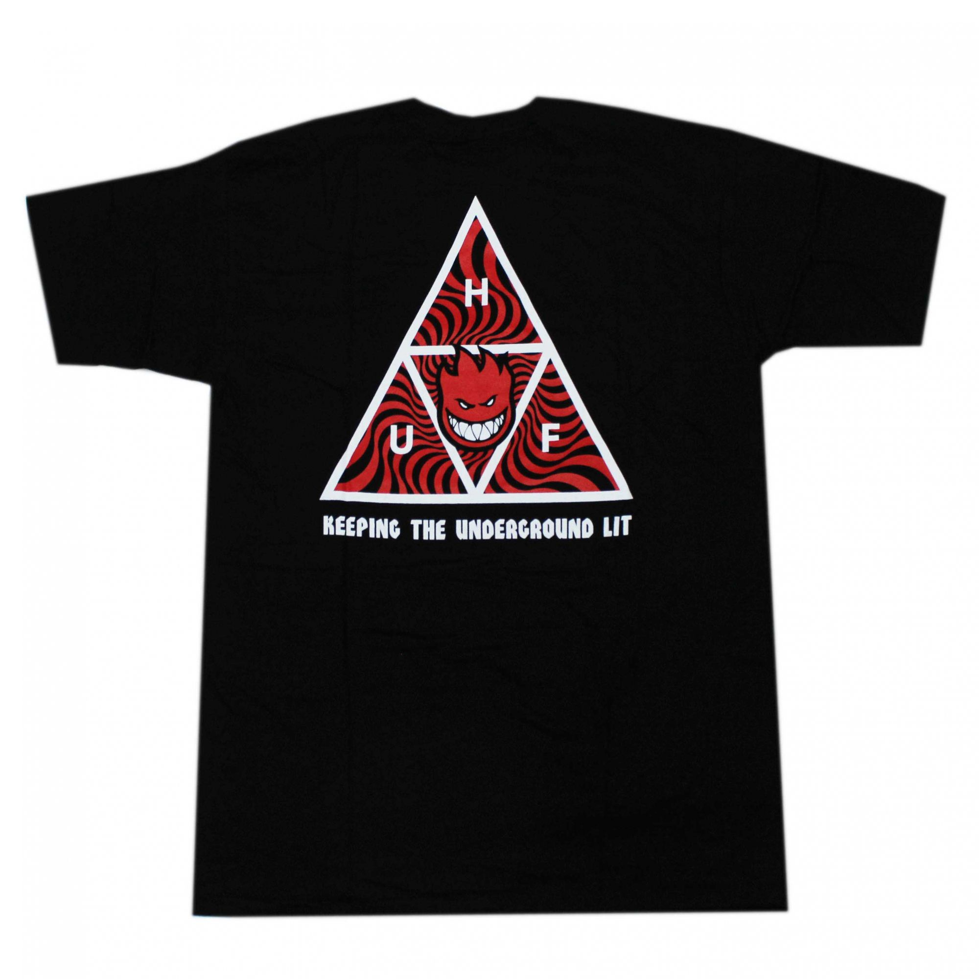 Camiseta HUF x Spitfire TT - Preto (Importado)