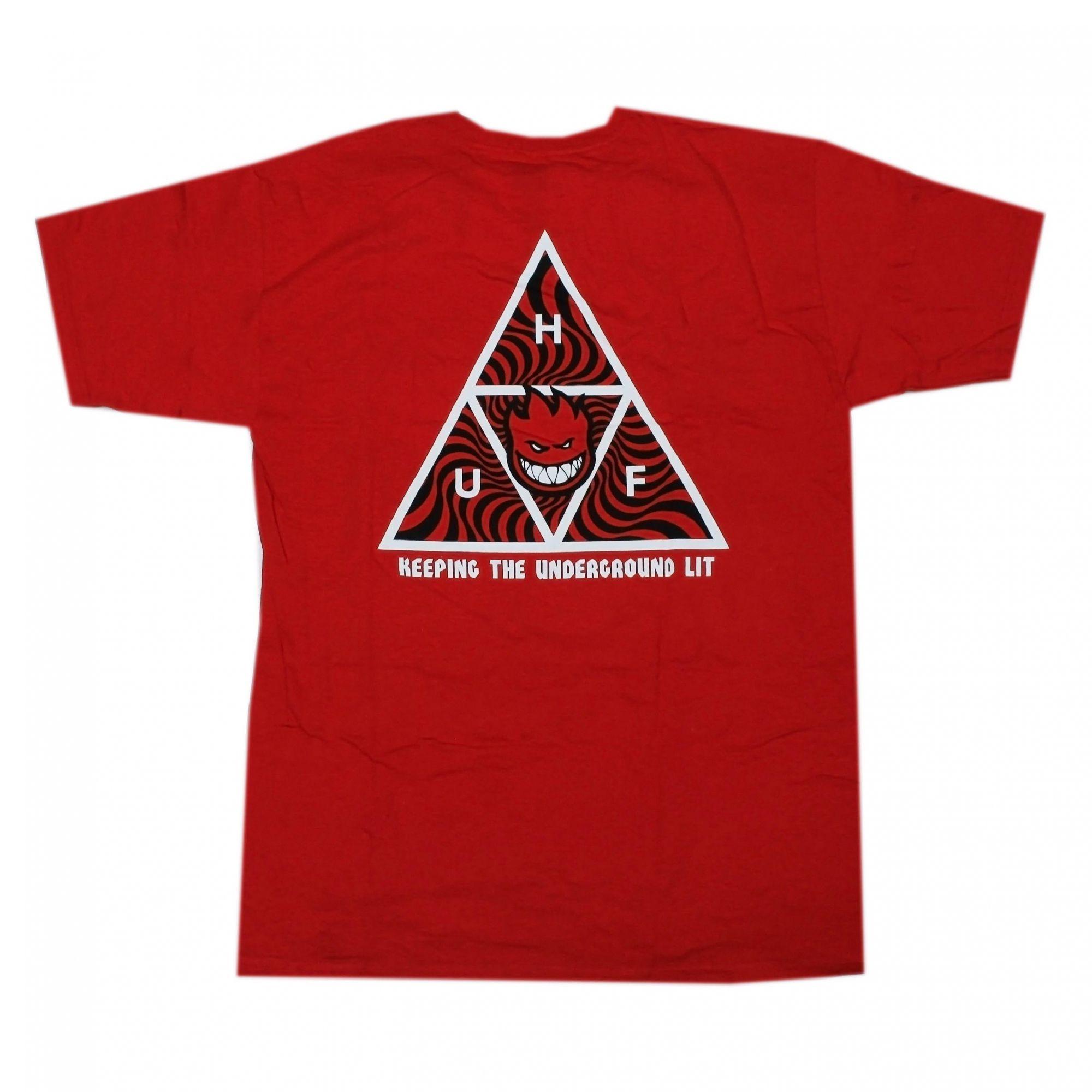 Camiseta HUF x Spitfire TT Vermelho (Importado)