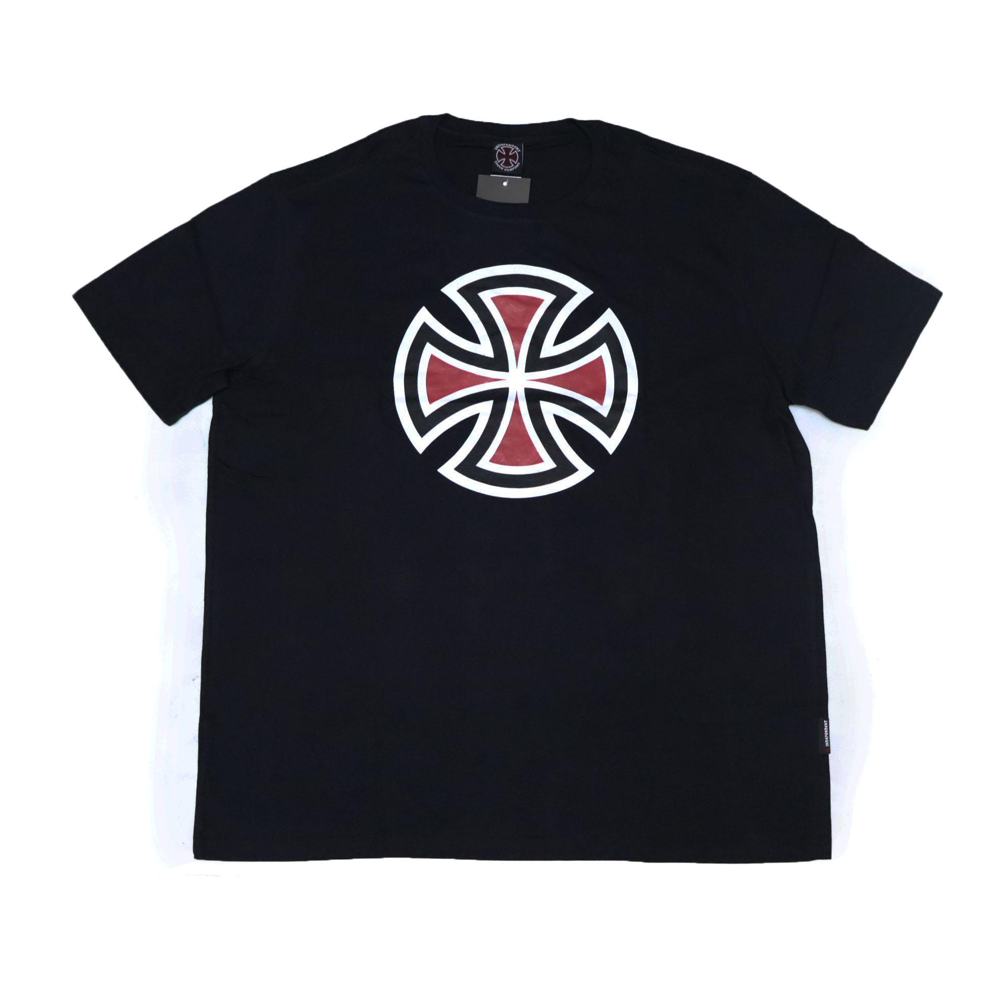 Camiseta Independent 4 Tier Cross 3 Color - Preto