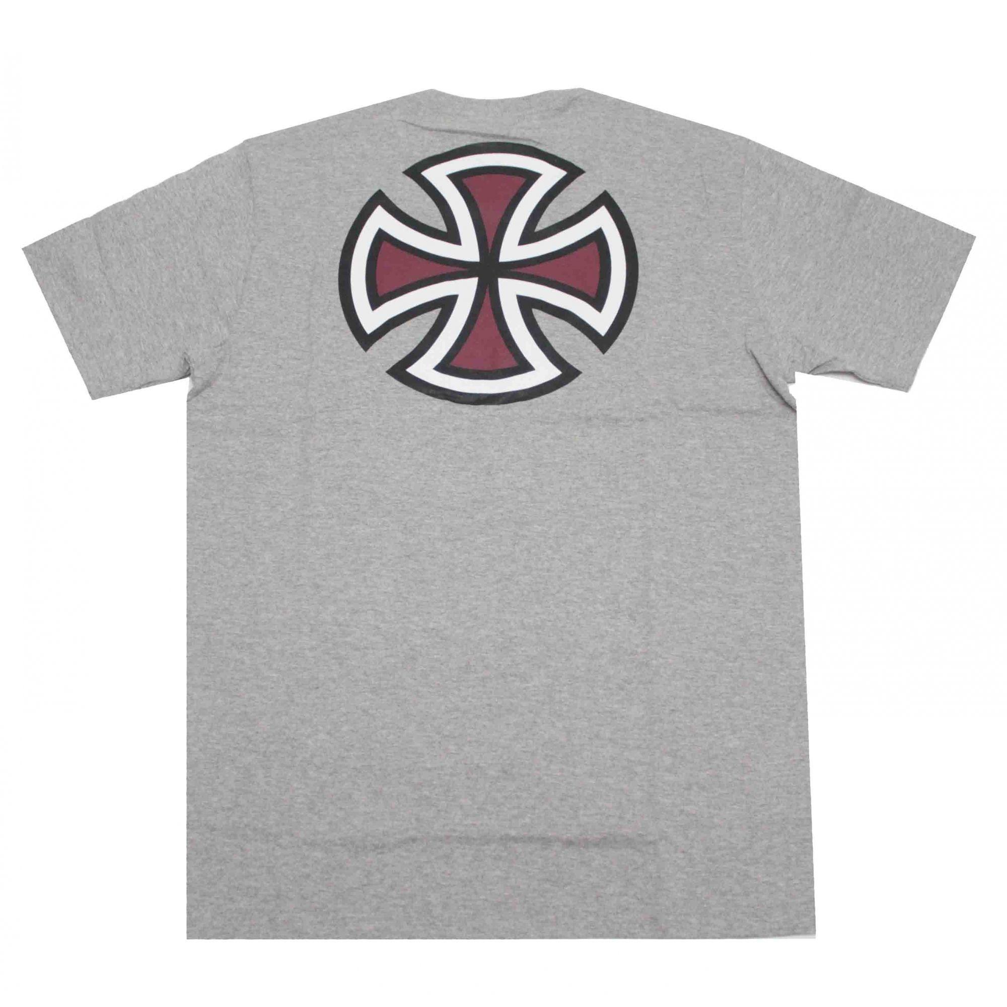 Camiseta Independent Bar Cross Logo 3 Colors Grey