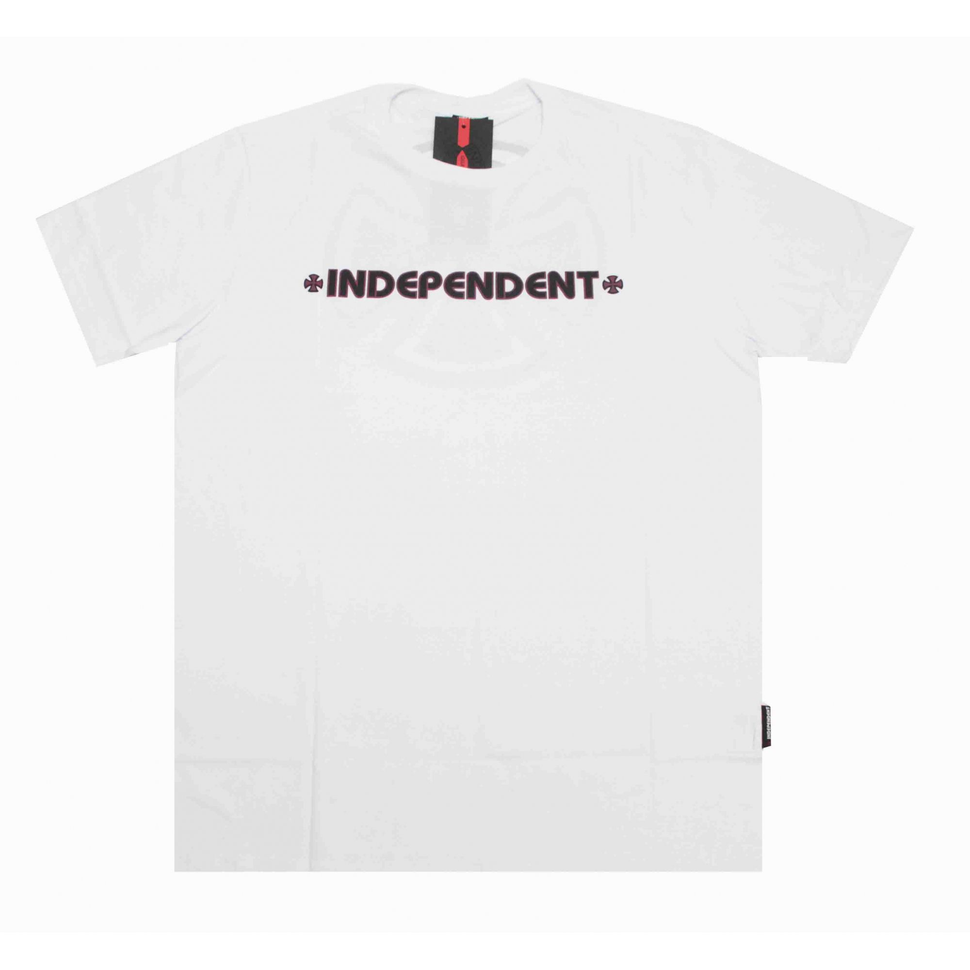 Camiseta Independent Bar Cross Logo 3 Colors White