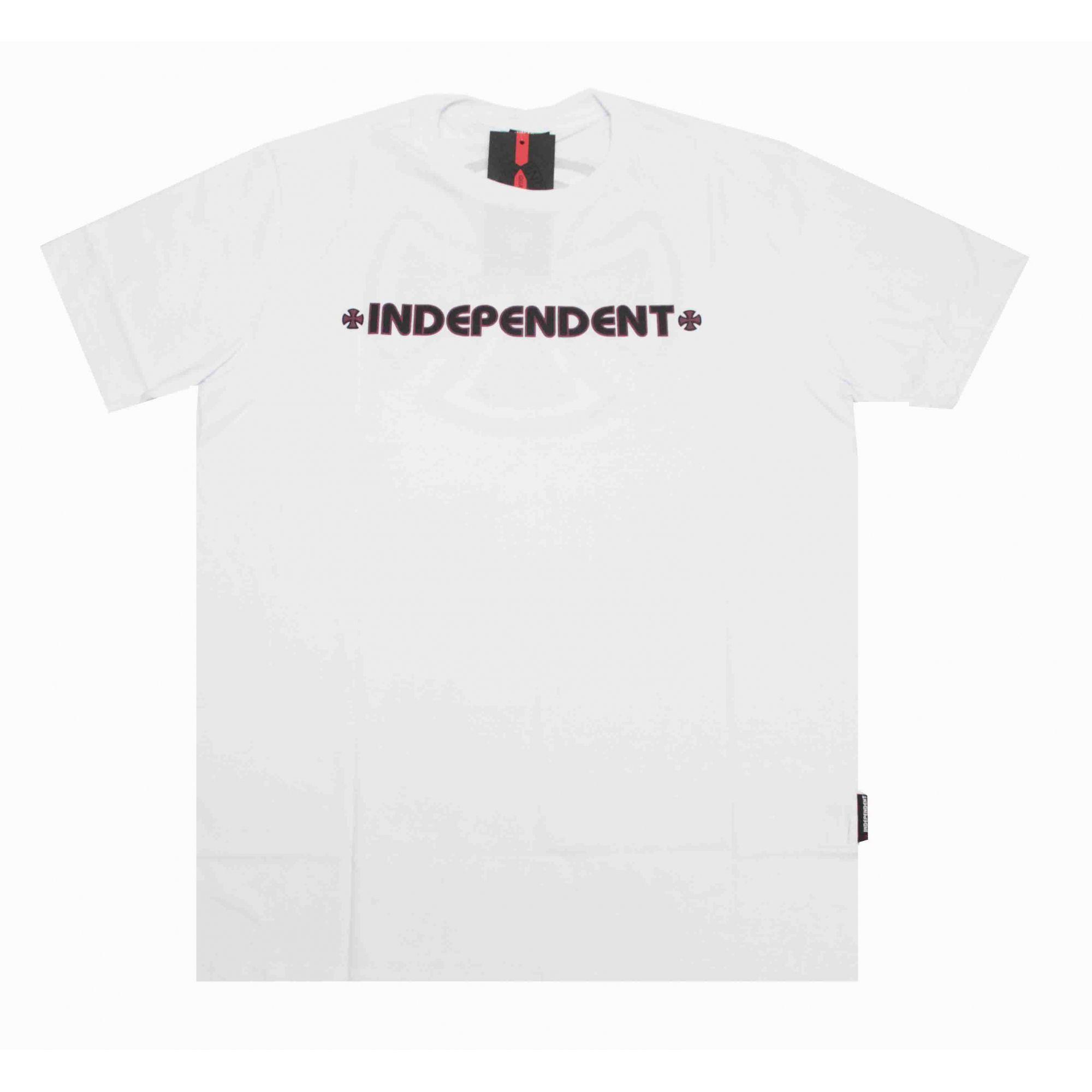 Camiseta Independent Bar Cross Logo 3 Colors White