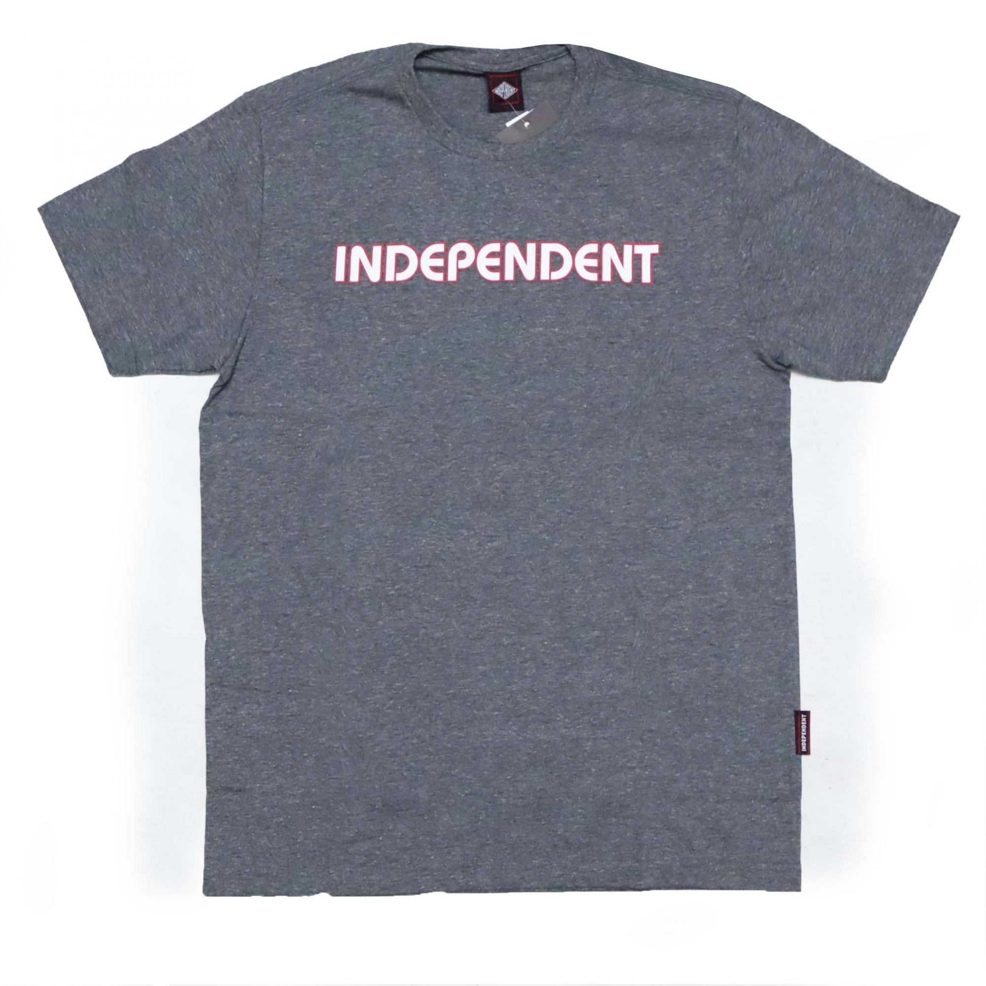 Camiseta Independent Bar Logo - Chumbo Mescla