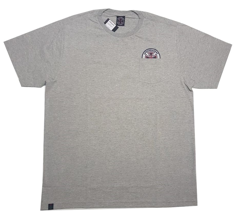 Camiseta Independent Especial Colors Pocket Cinza Mescla