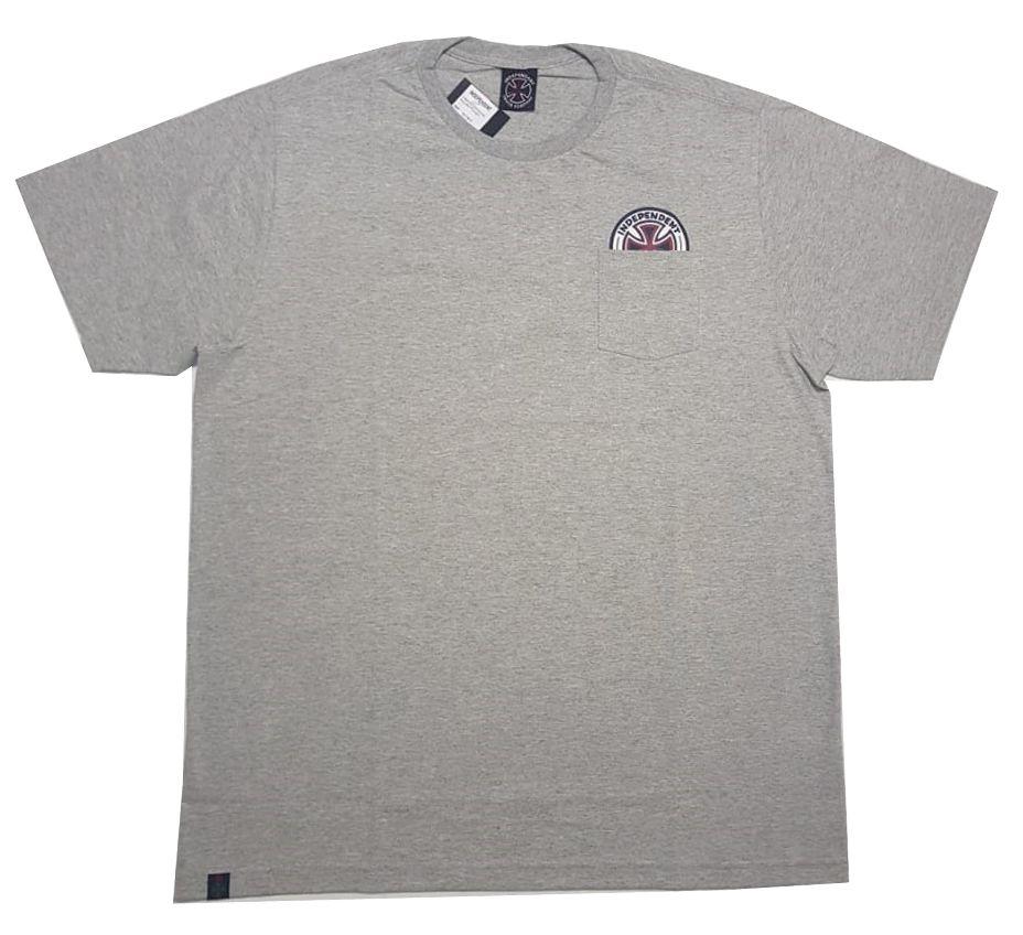 Camiseta Independent Especial Colors Pocket - Cinza Mescla