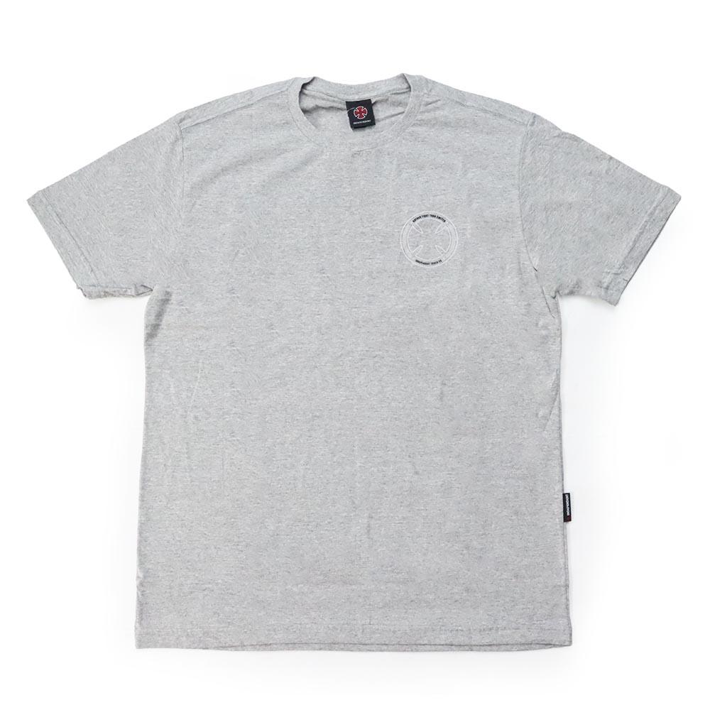 Camiseta Independent Fts Skull - Cinza Mescla