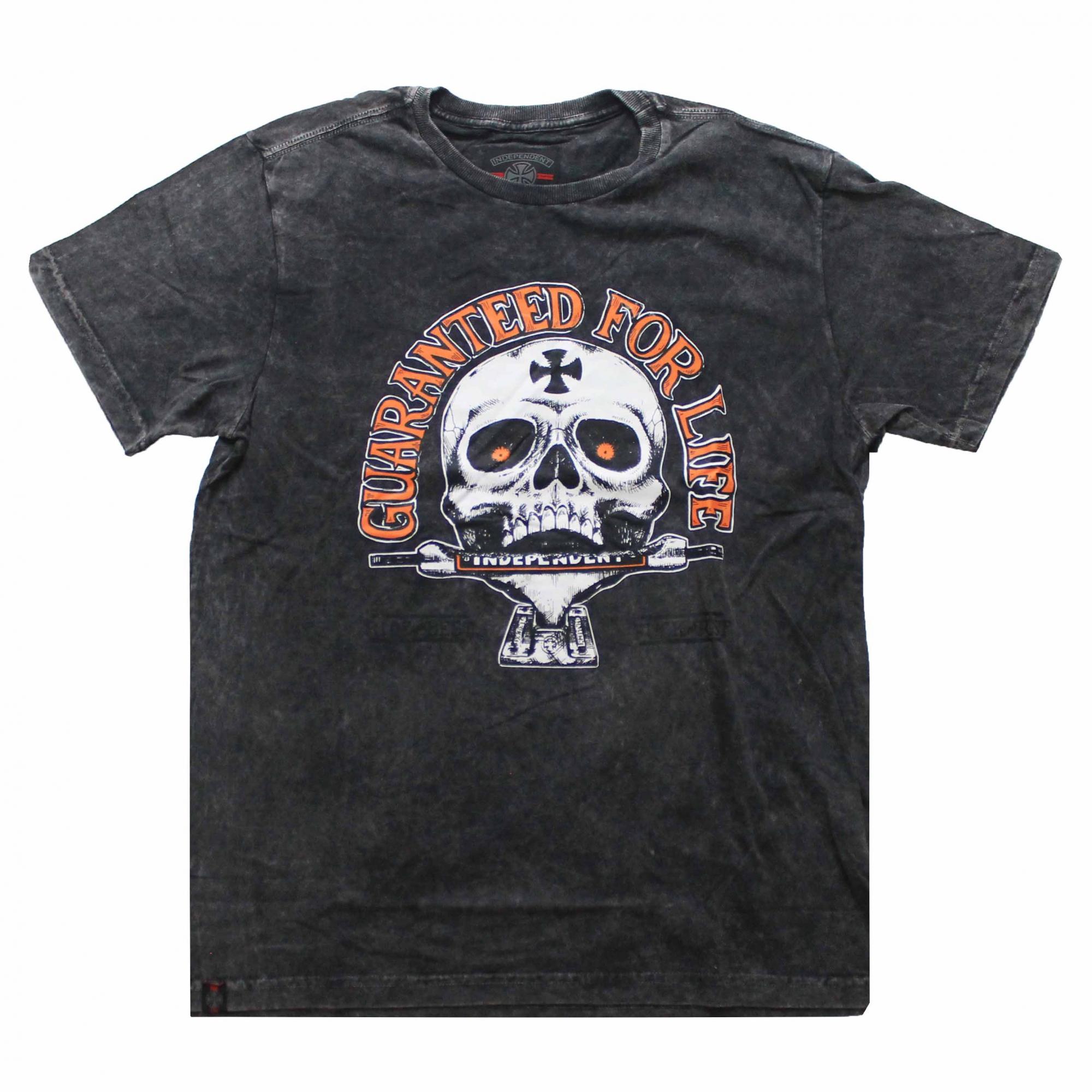 Camiseta Independent Guaranteed - Preto Estonado