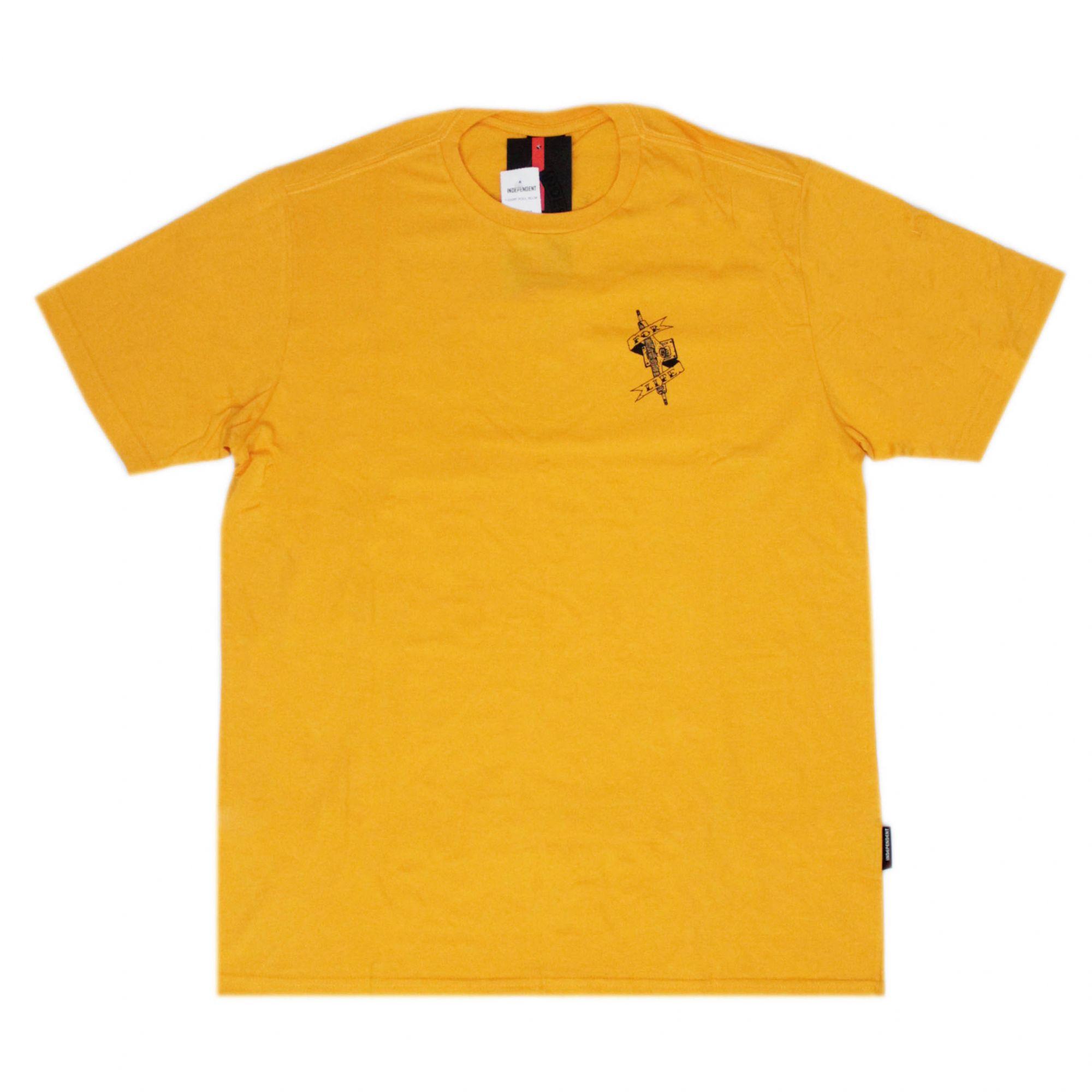 Camiseta Independent Pool Scum - Amarelo