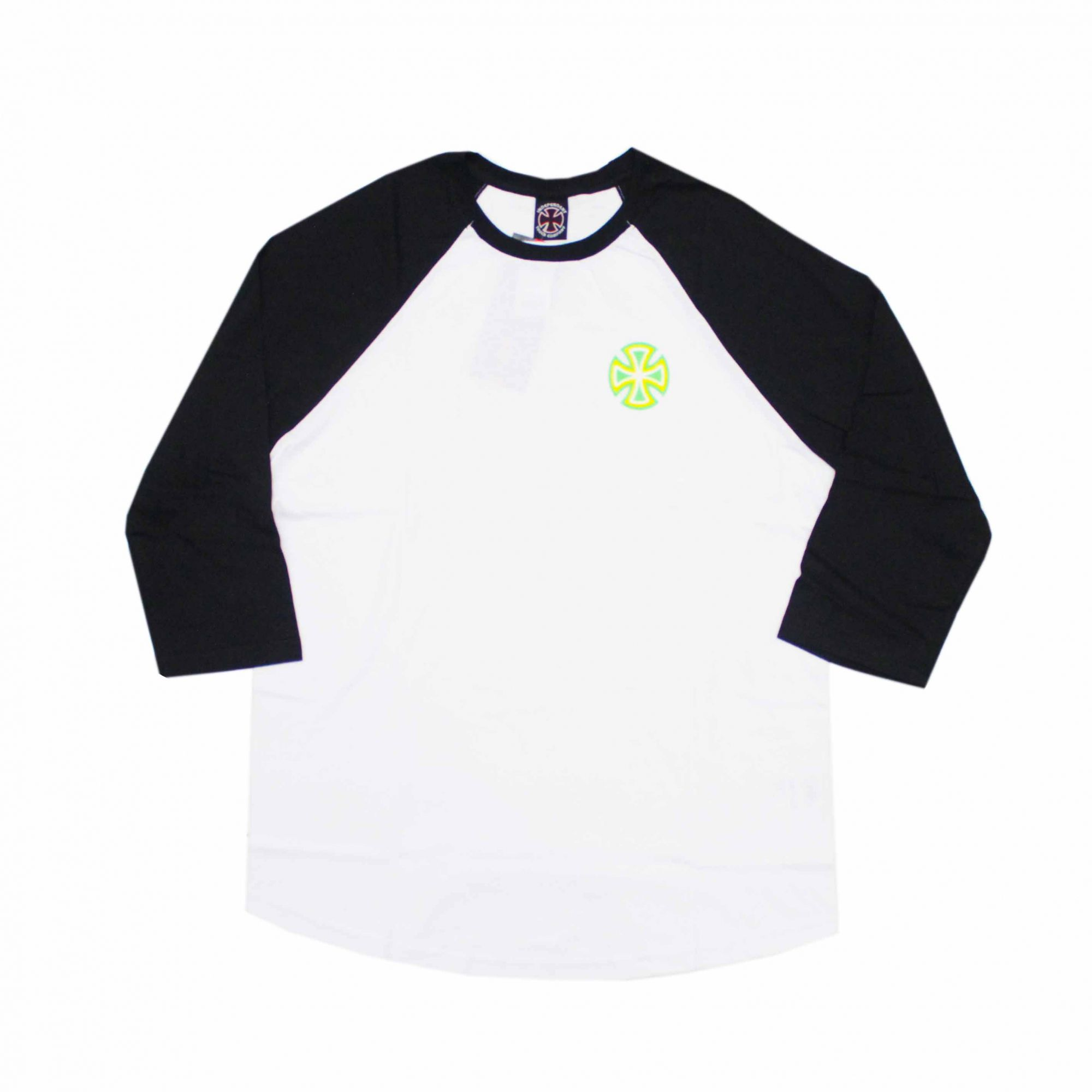 Camiseta Independent Raglan 3/4 Voltage Branco/Preto