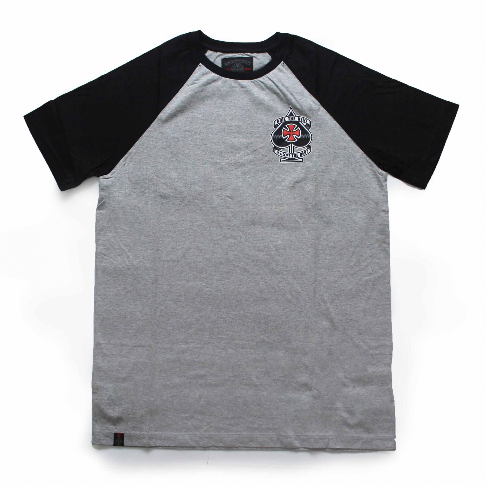 Camiseta Independent Raglan Ante Cinza Mescla