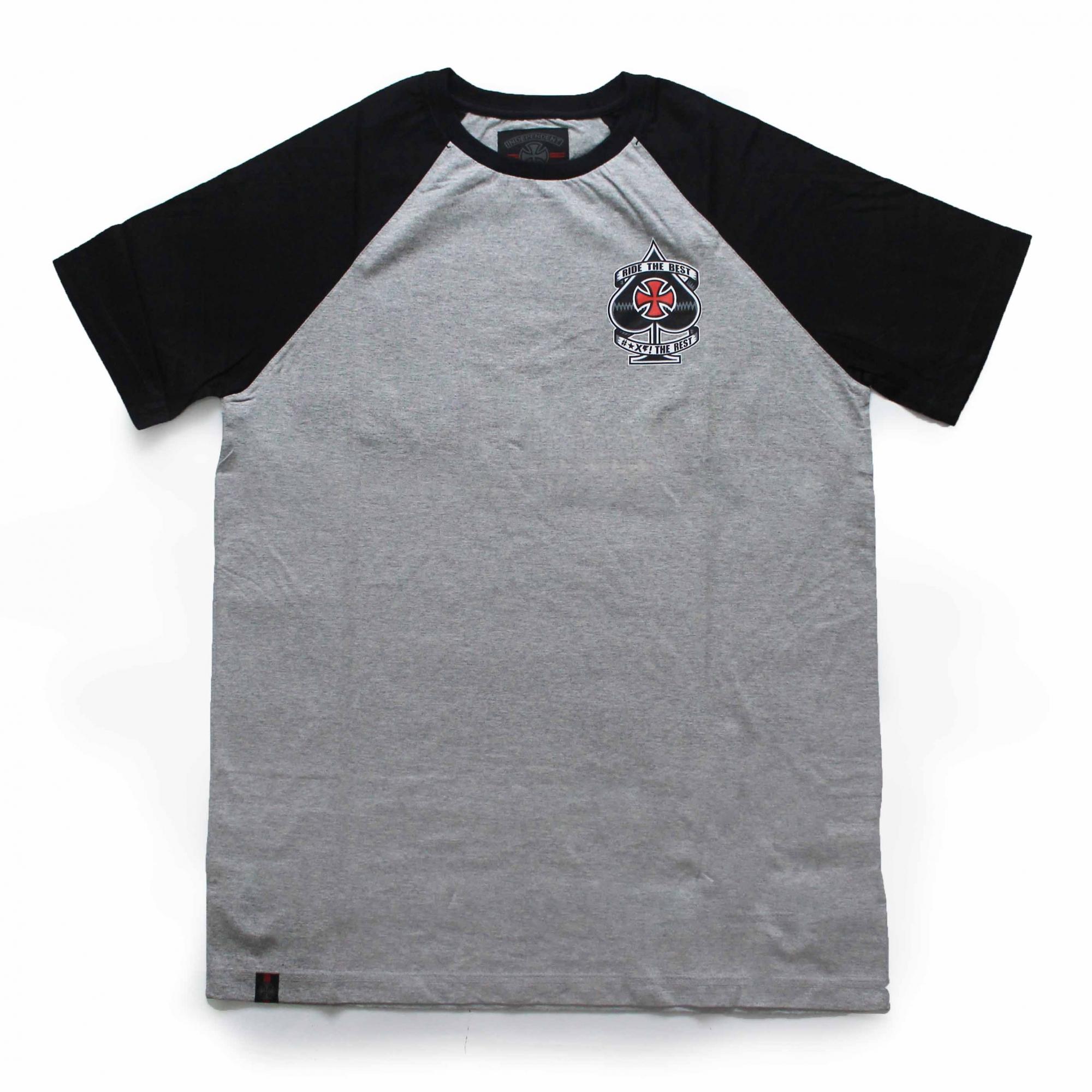 Camiseta Independent Raglan Ante - Cinza Mescla
