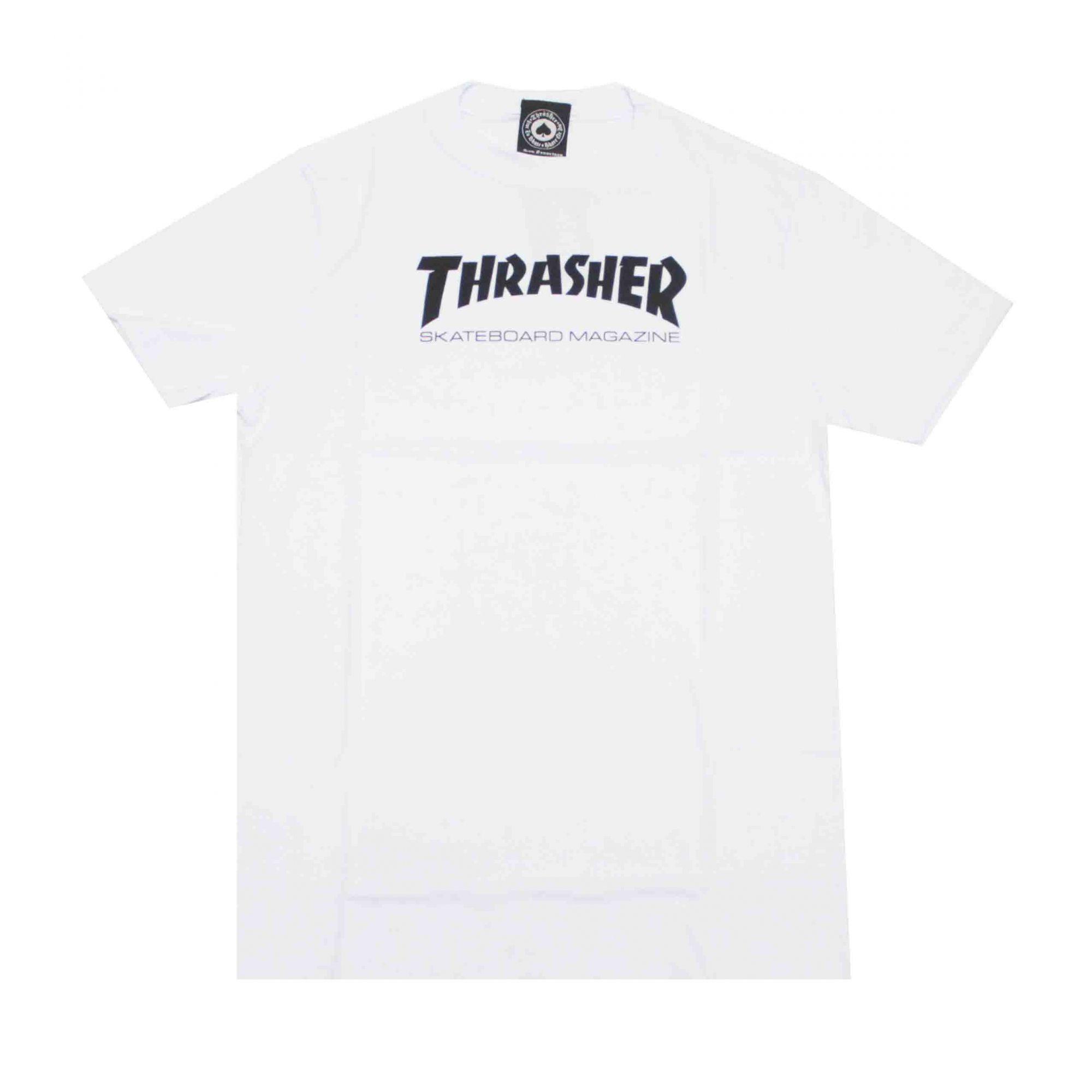 Camiseta Infantil Thrasher Magazine Skate Mag - Branco