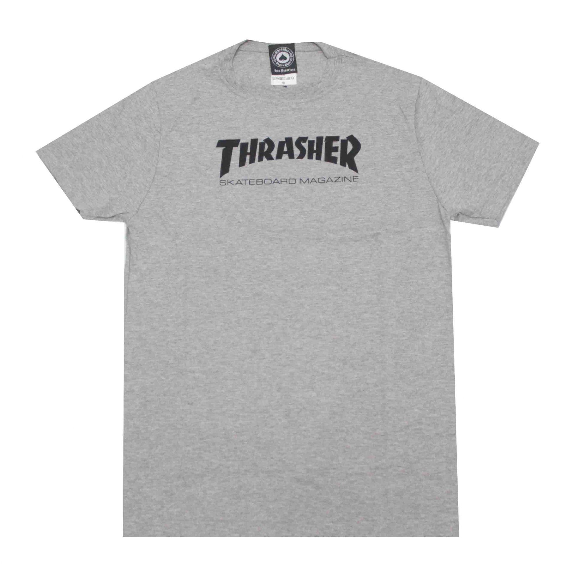Camiseta Infantil Thrasher Magazine Skate Mag - Cinza Mescla
