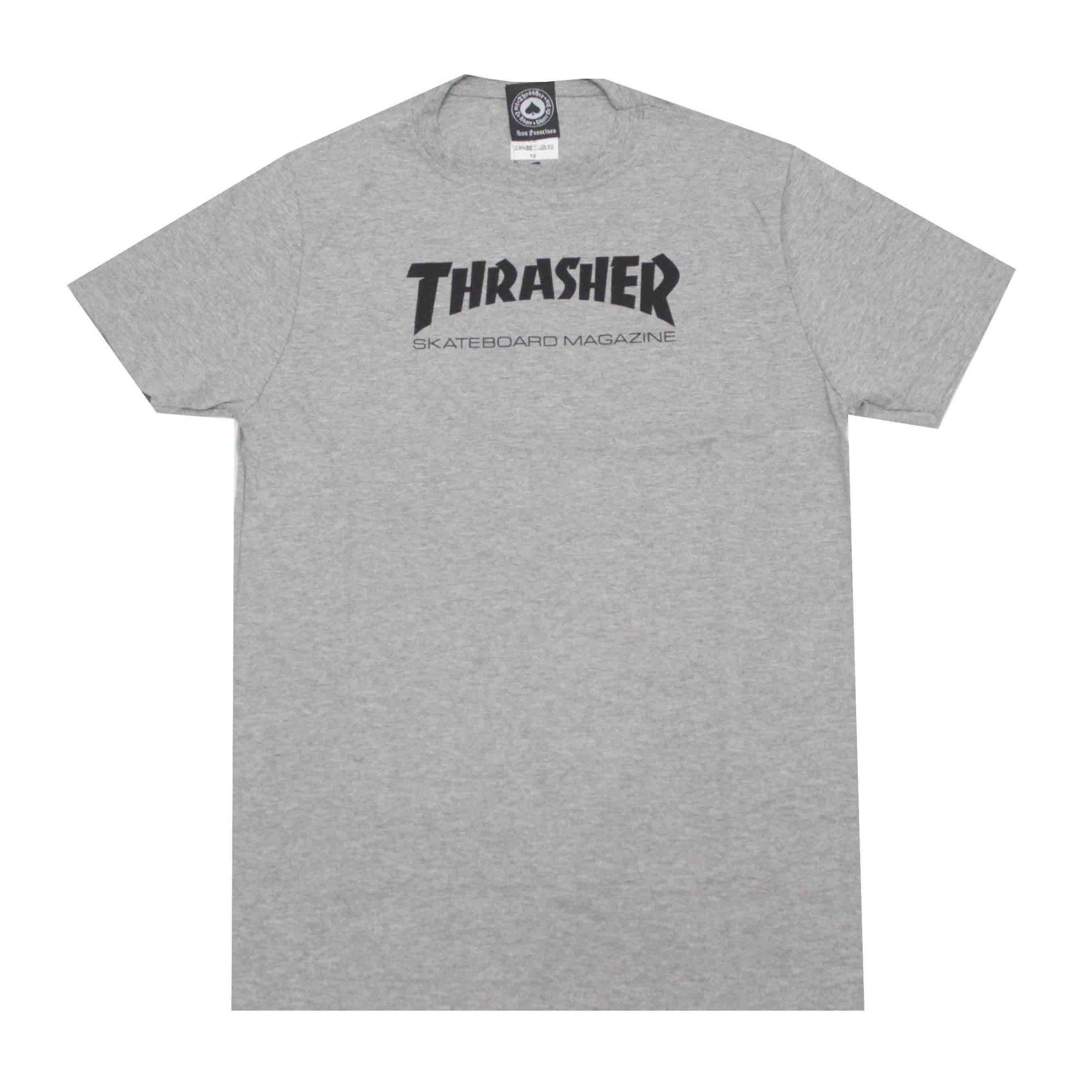 Camiseta Infantil Thrasher Magazine Skate Mag Grey