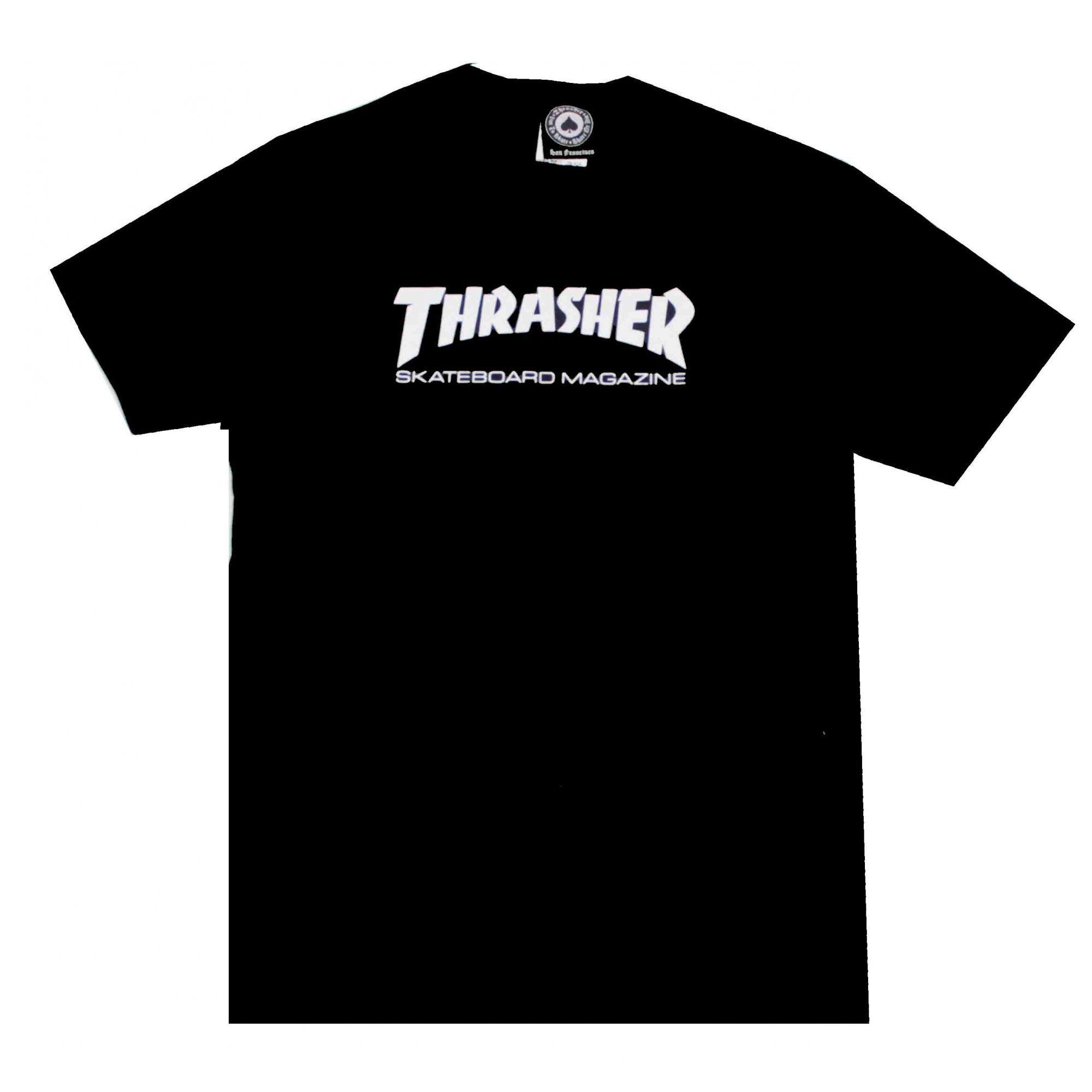 Camiseta Infantil Thrasher Magazine Skate Mag - Preto
