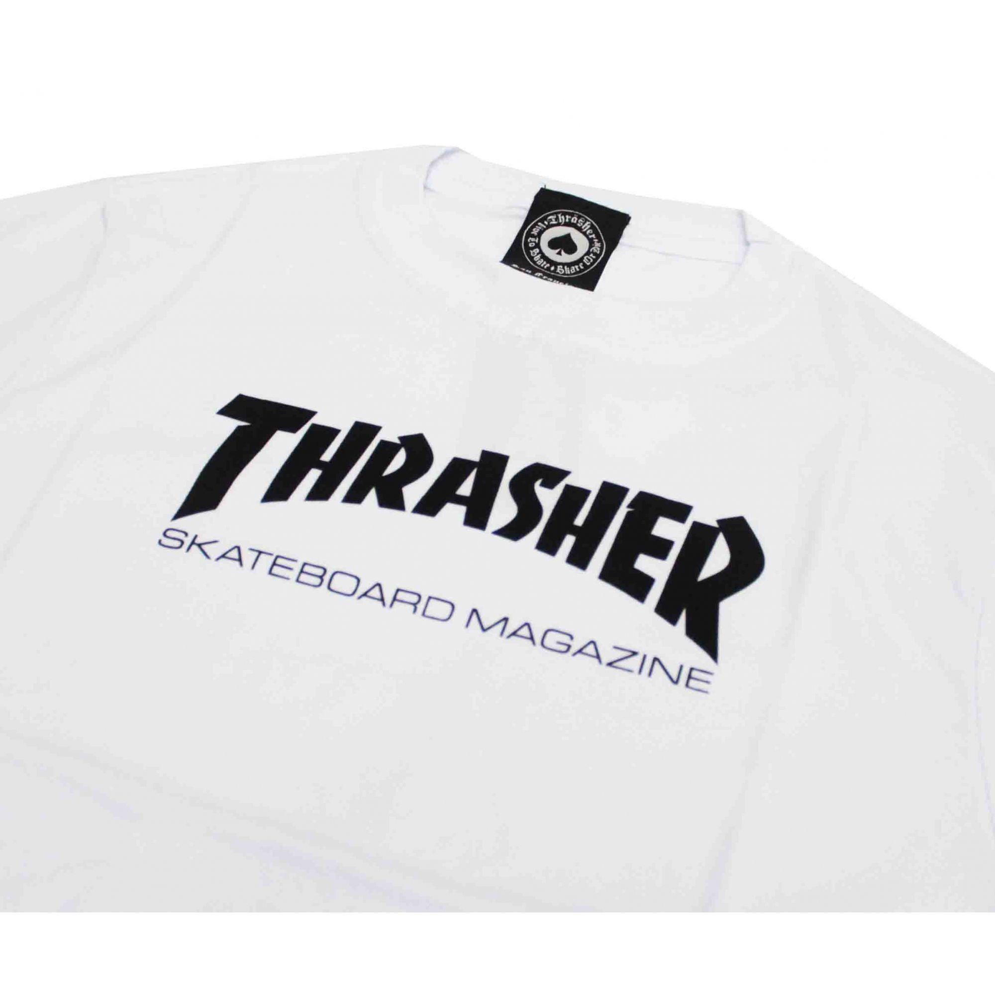Camiseta Infantil Thrasher Magazine Skate Mag White