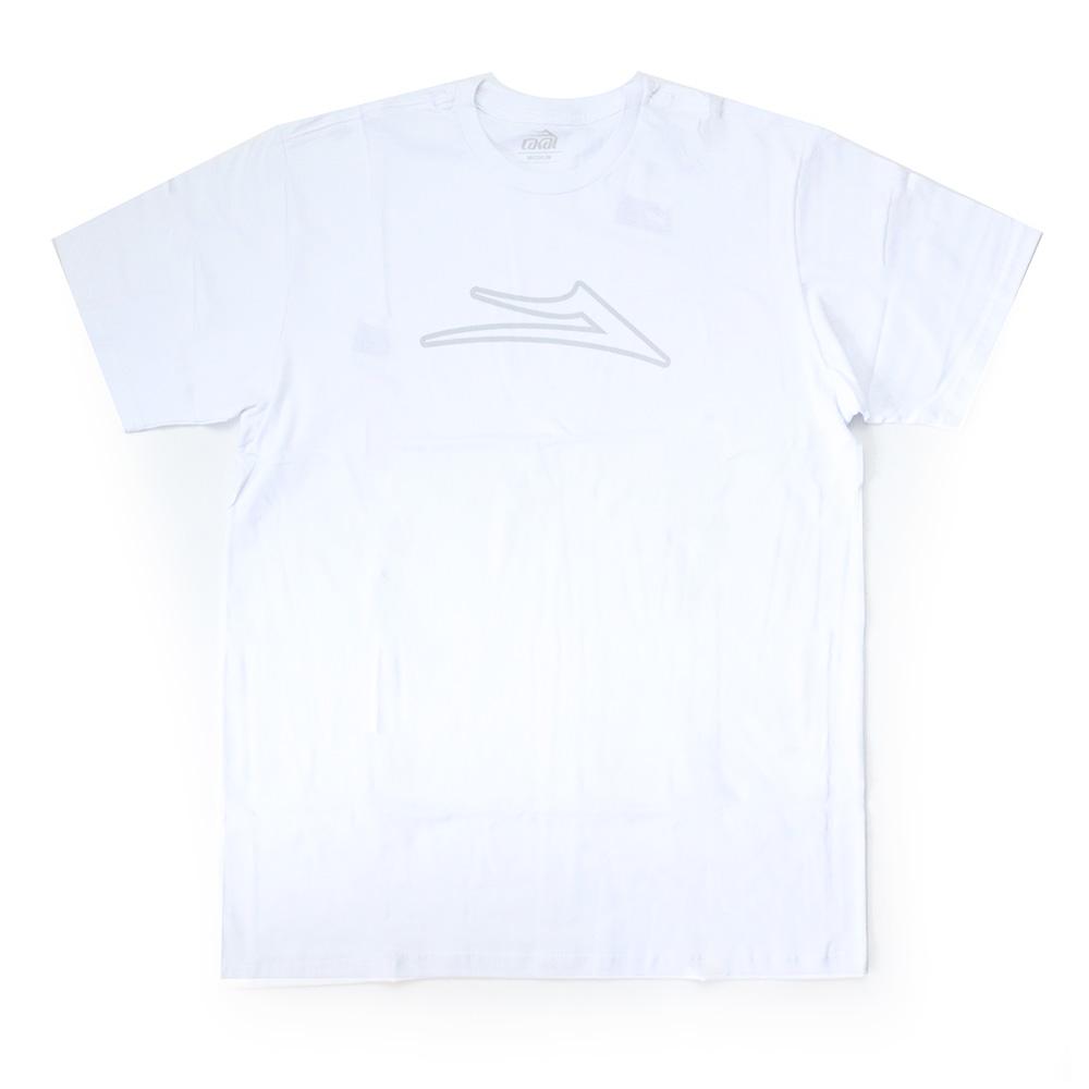 Camiseta Lakai Flare Outline - Branco