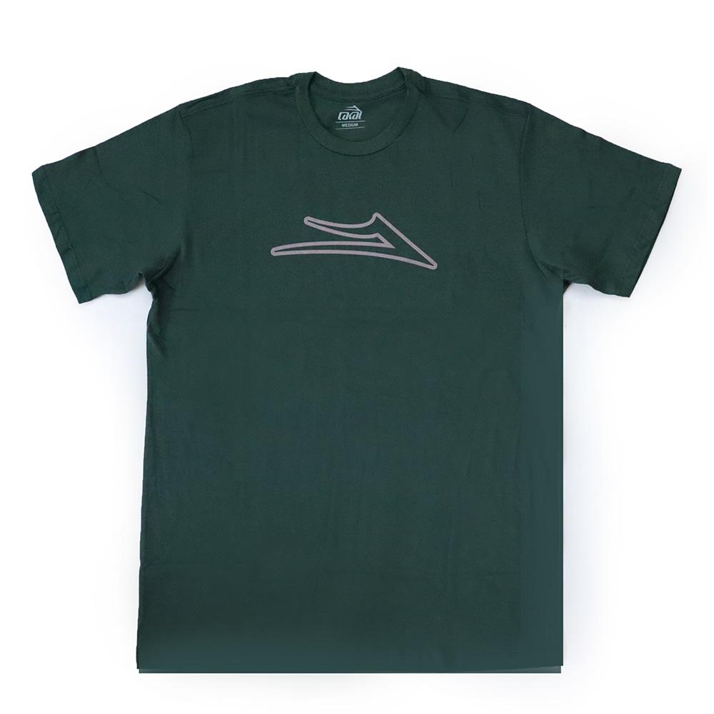 Camiseta Lakai Flare Outline - Verde Escuro