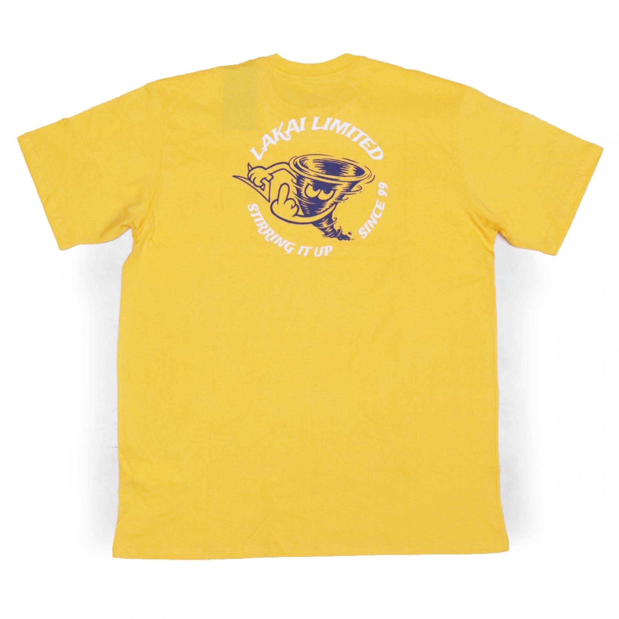 Camiseta Lakai Tornado - Amarelo