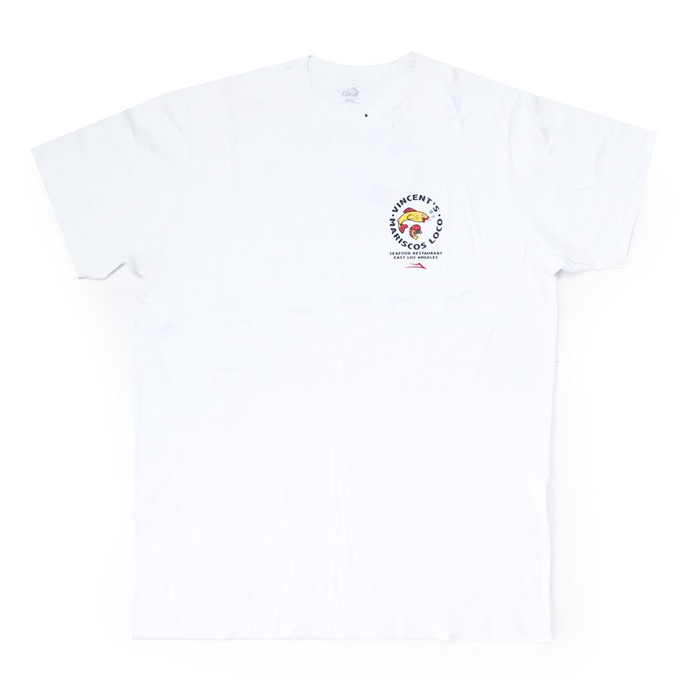 Camiseta Lakai Vincent's Mariscos - Branco