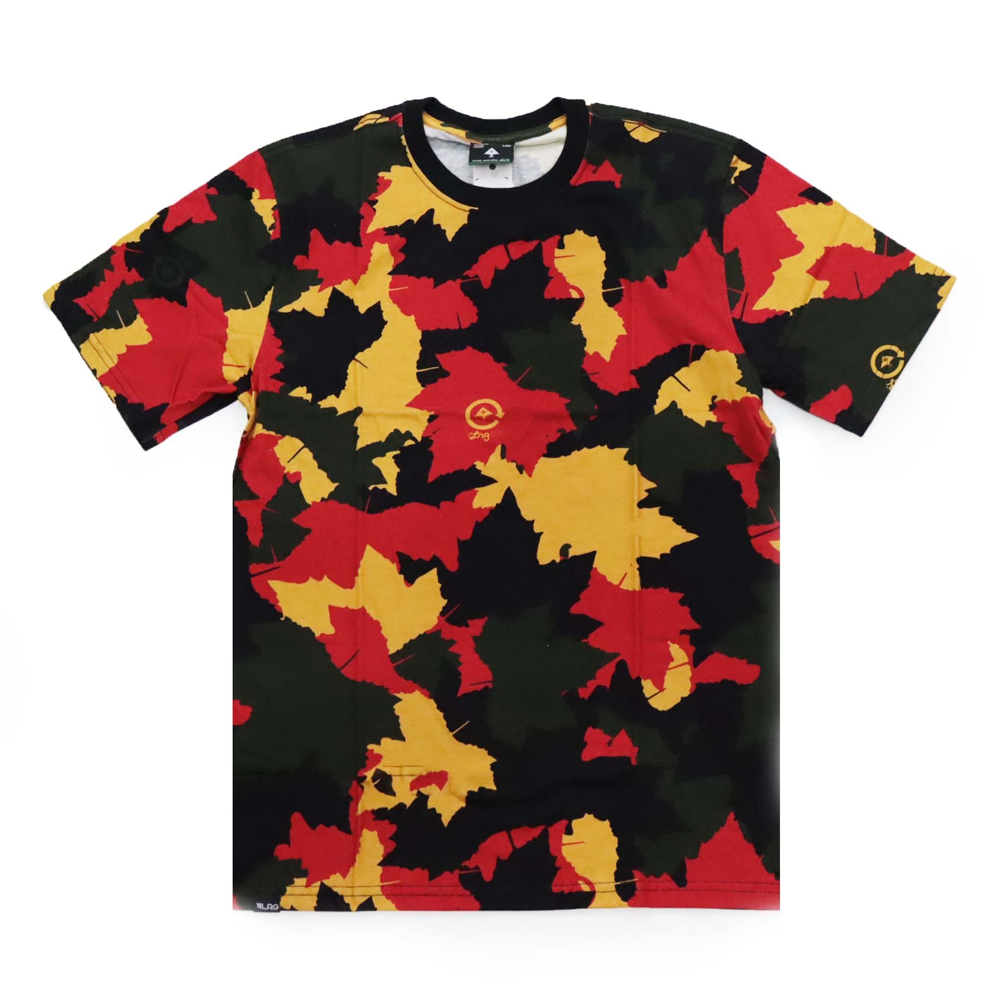 Camiseta LRG Leaf - Camuflado Vermelho/Amarelo