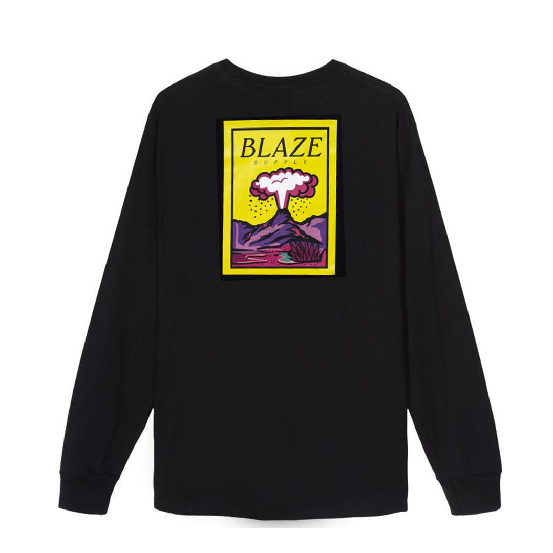Camiseta Manga Longa Blaze Volcano - Preto