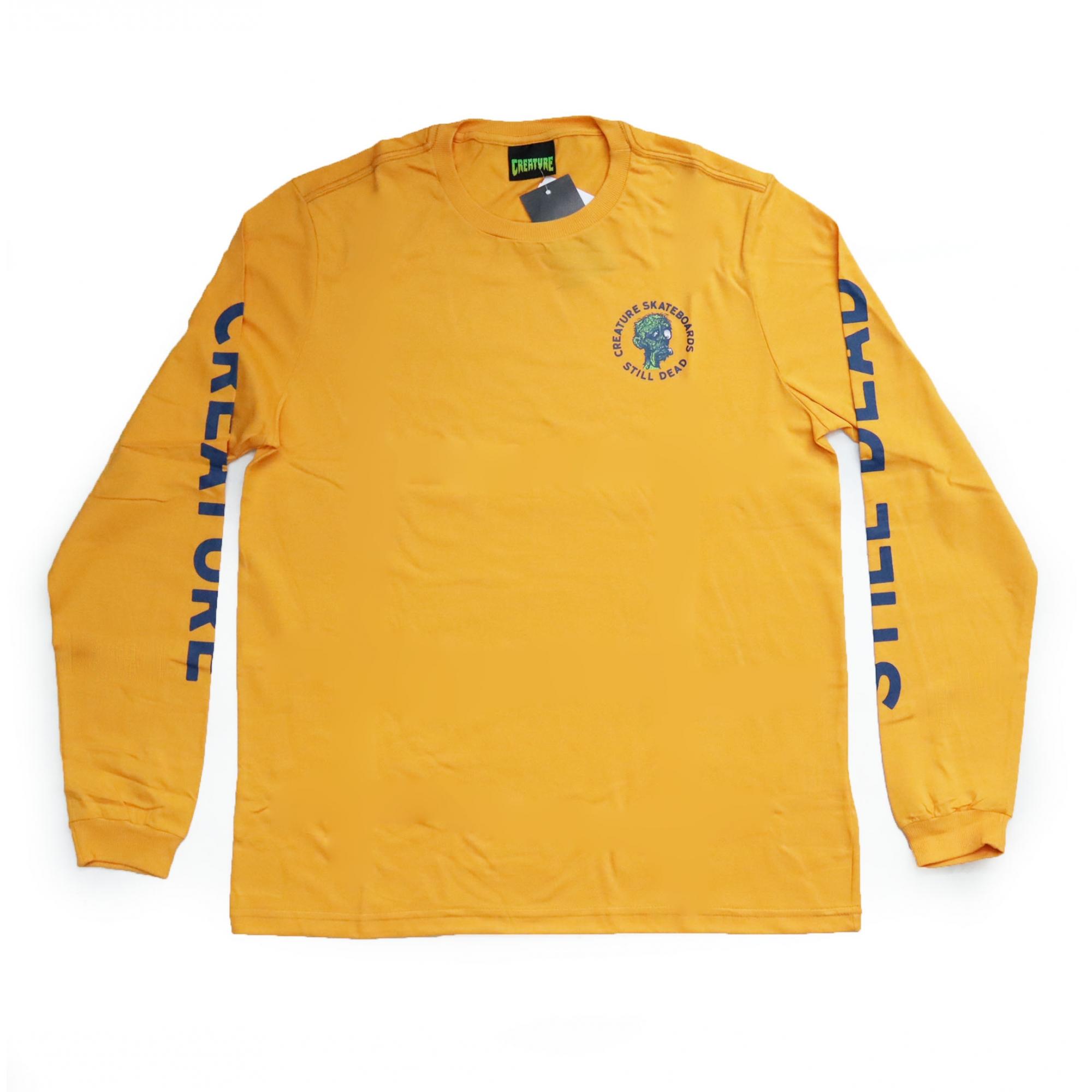 Camiseta Manga Longa Creature Retorn Of The Fiend - Amarelo Mostarda