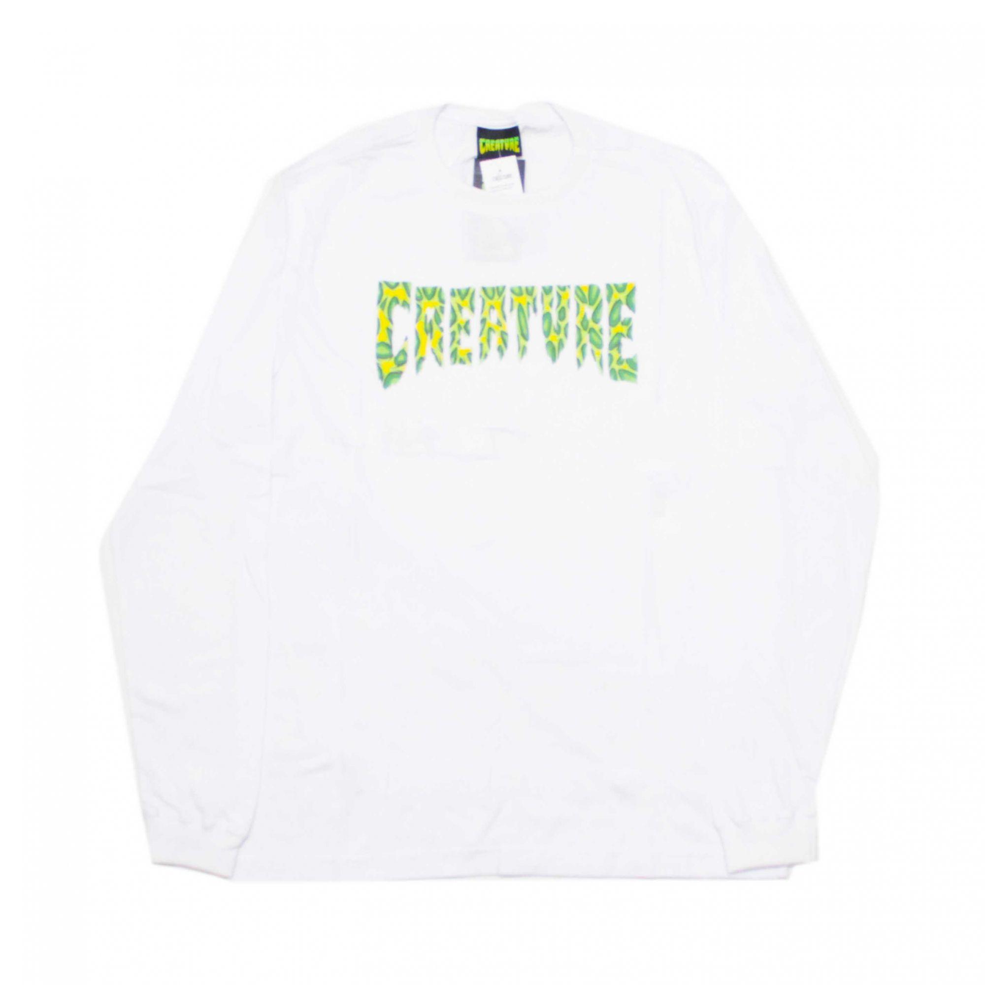 Camiseta Manga Longa Creature Strains Branco