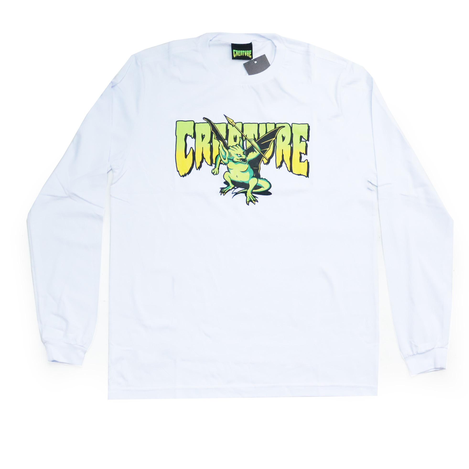 Camiseta Manga Longa Creature Swamper - Branco