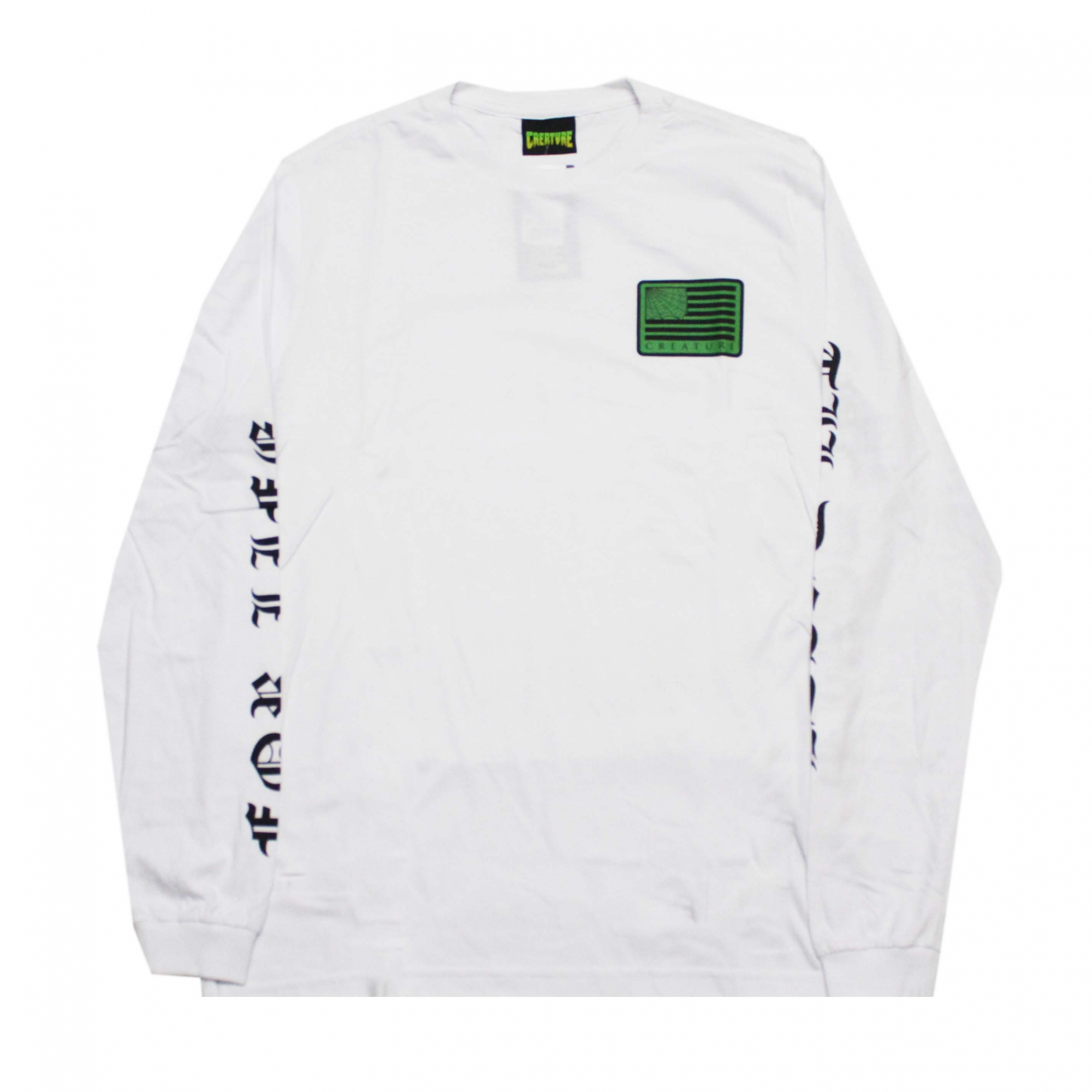 Camiseta Manga Longa Creature United We Lurk - Branco