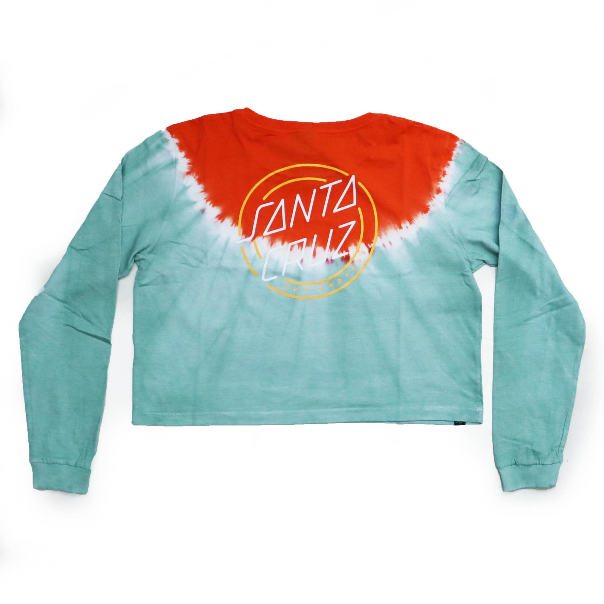 Camiseta Manga Longa Cropp Feminina Santa Cruz One Strok - Verde