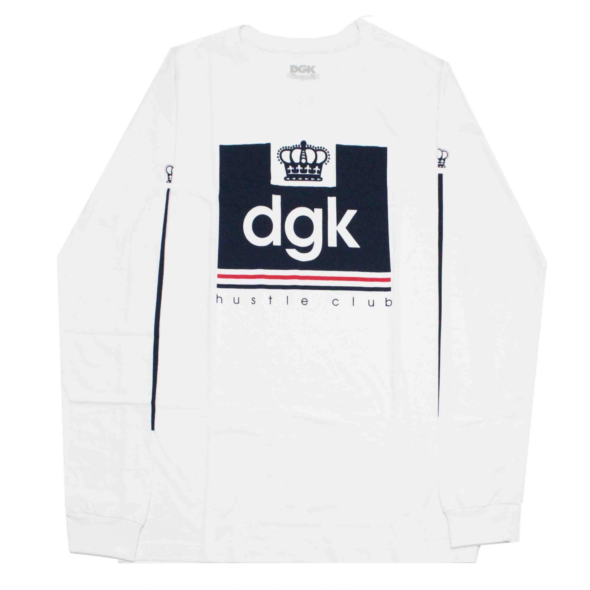Camiseta Manga Longa DGK Hustle Club White