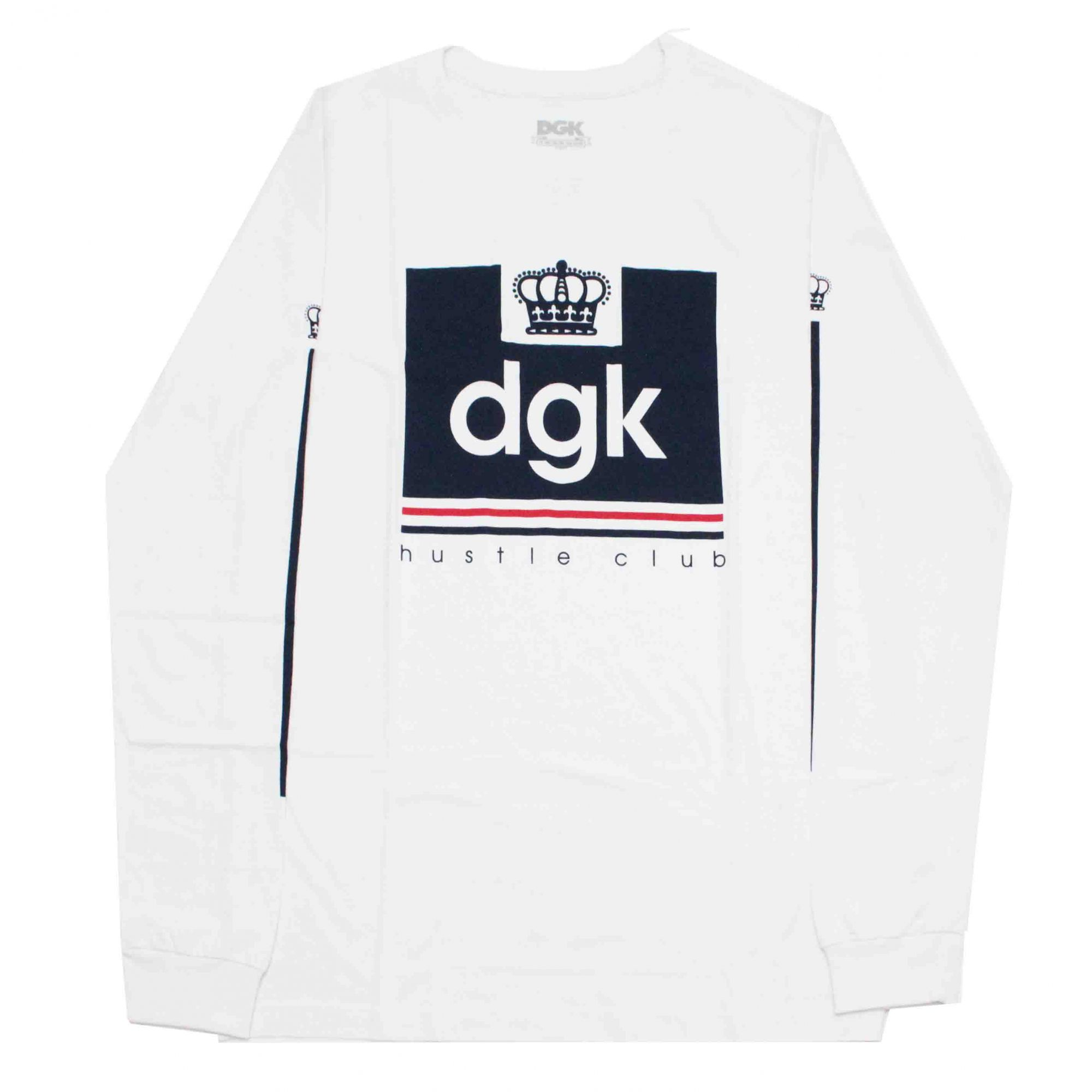 Camiseta Manga Longa DGK Hustle Club White